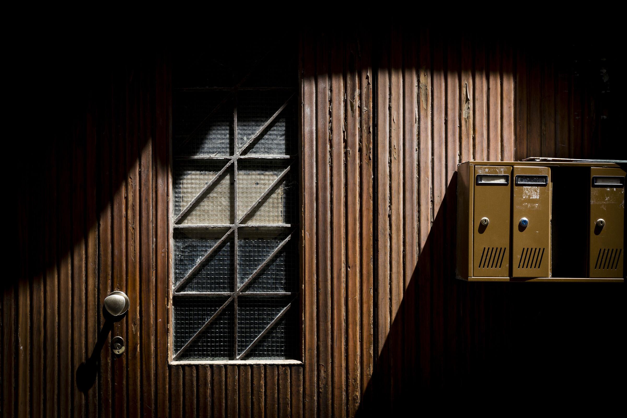 geometric door...