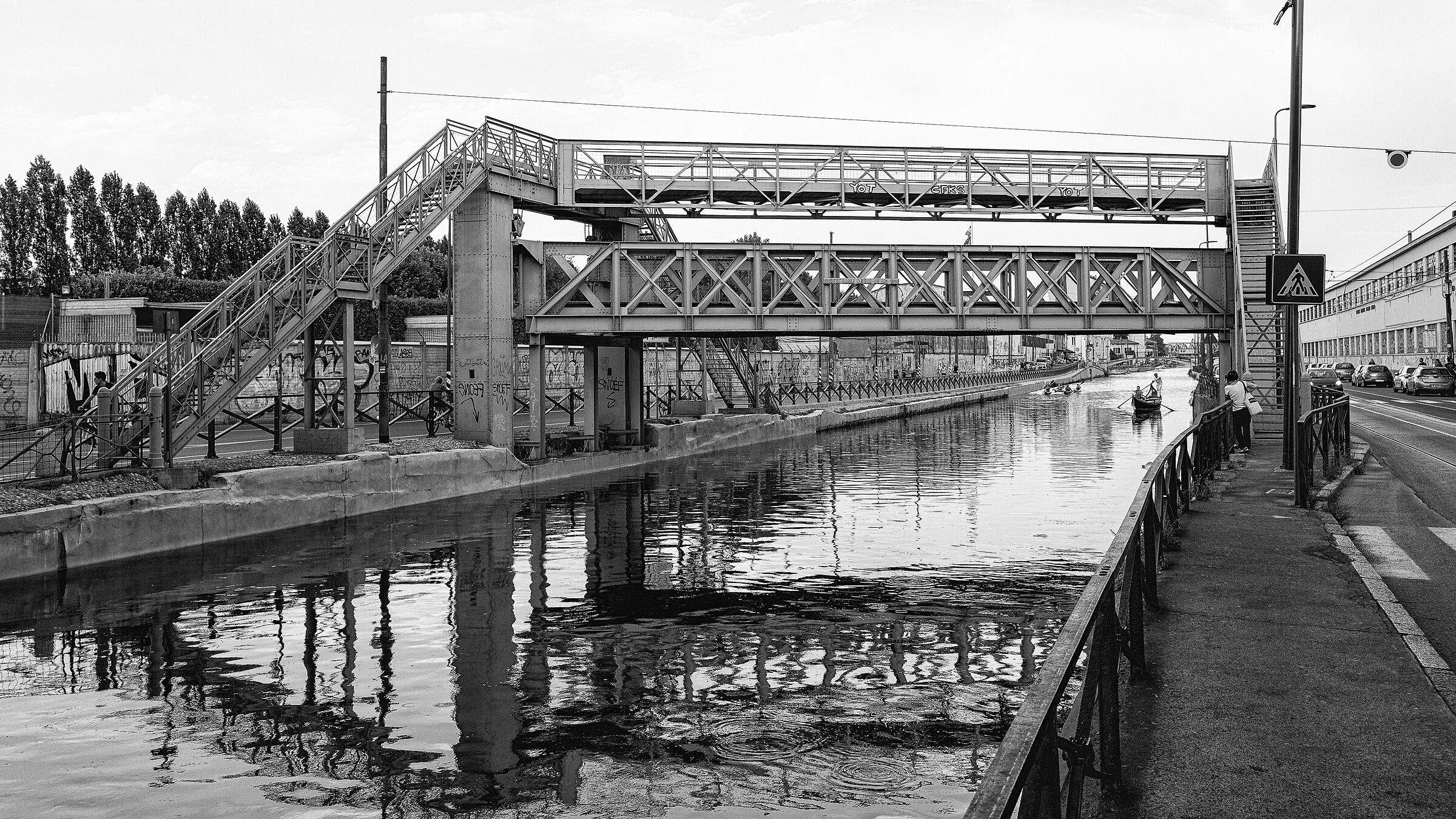 Richard Ginori Bridge. Milan, Naviglio Grande....