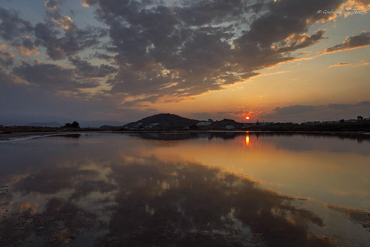 Sunset Naxos - agios prokopios beach...