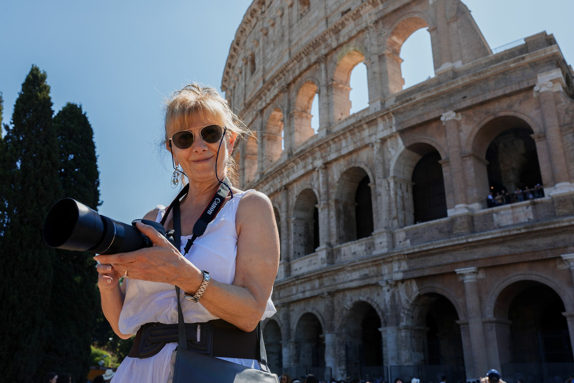 In the shadow of the Colosseum...