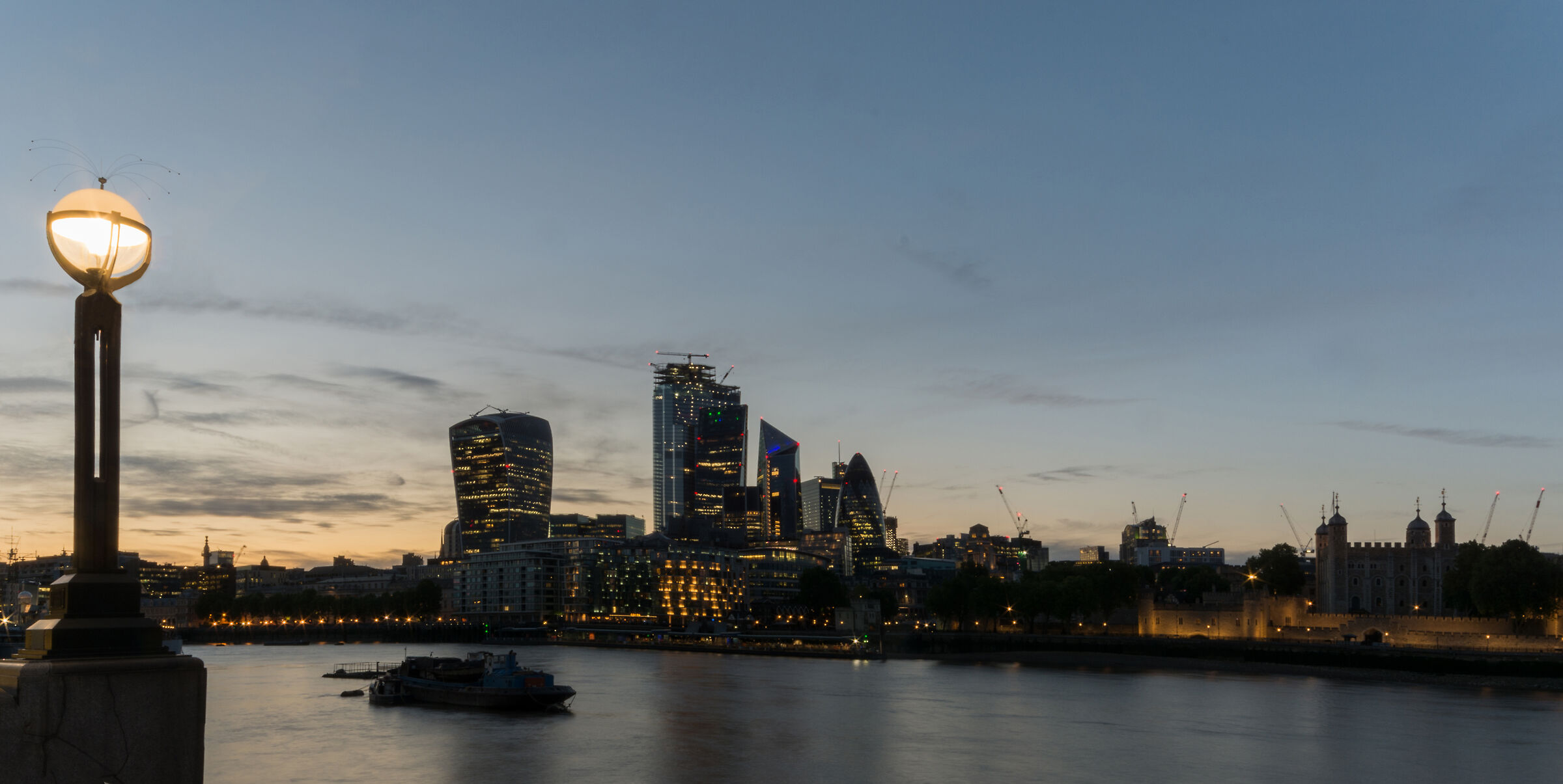 The city from the Thames...