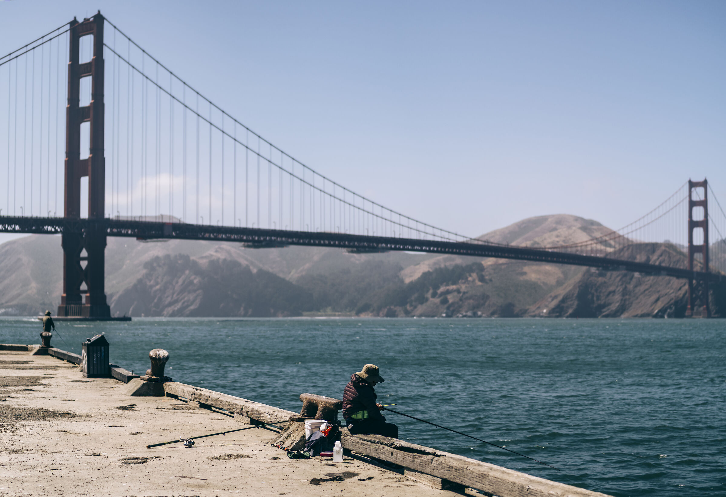 Pescatore al Golden Gate bridge...