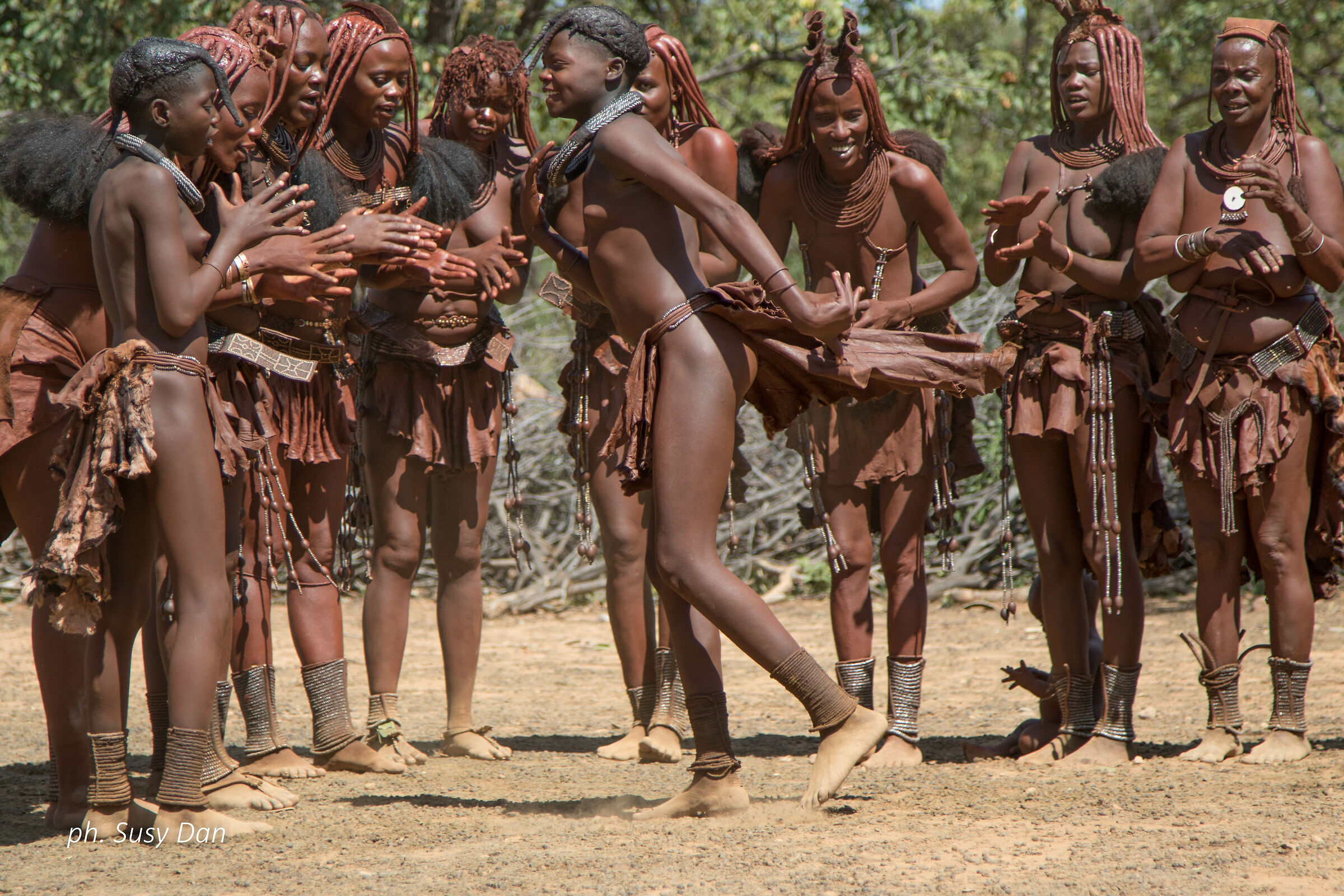 Traditional Himba dance...