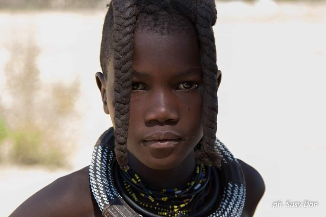 Himba girl of Kaokoland, Namibia...