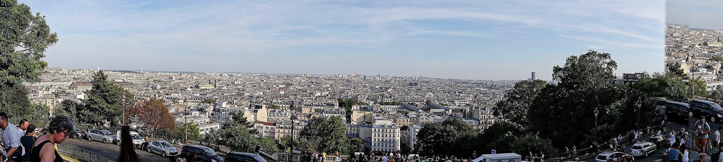 panoramica di Parigi da Montmartre...