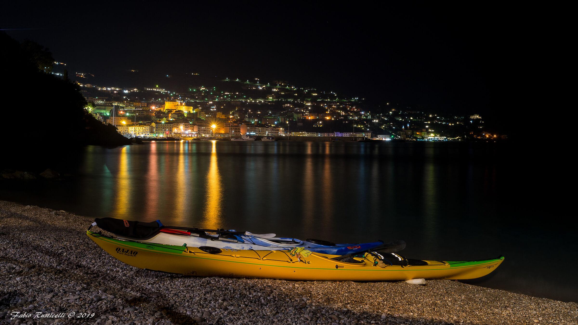 Porto Santo Stefano, night panorama...