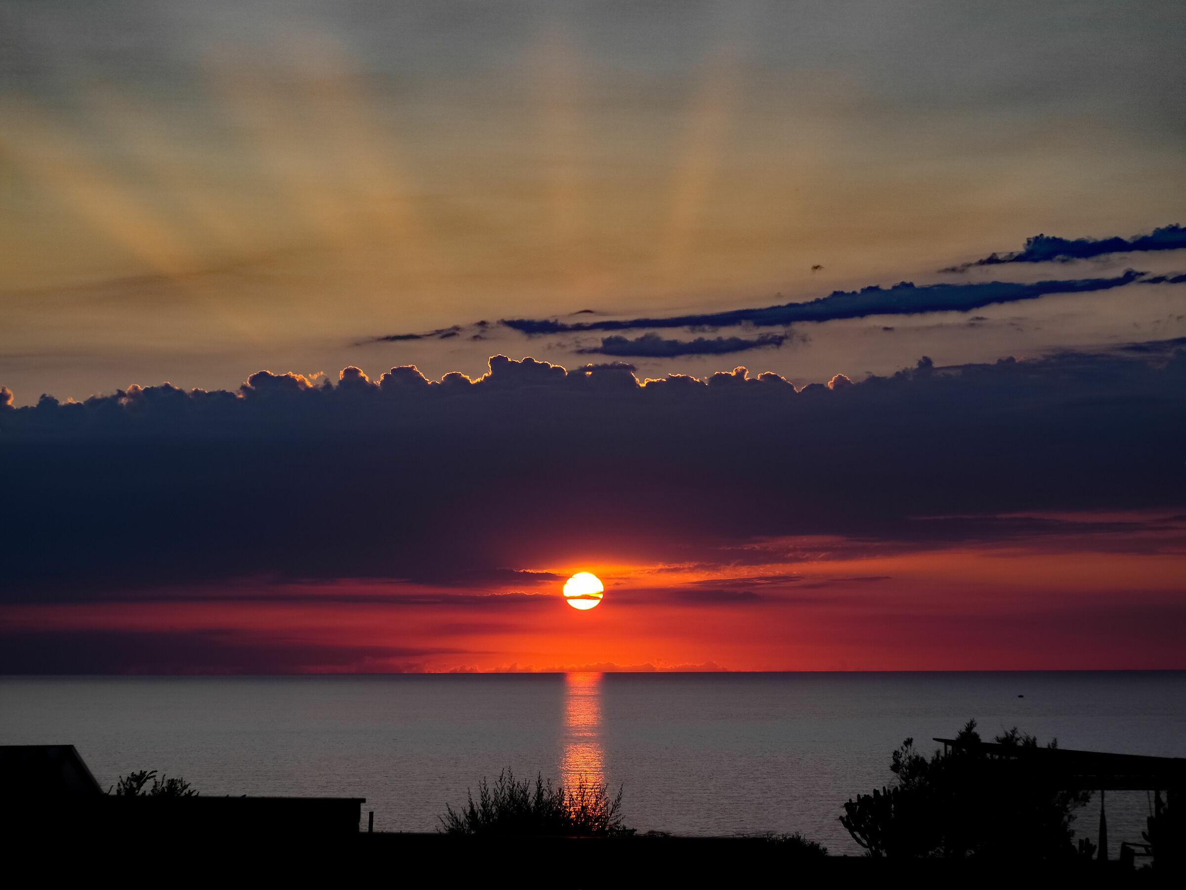 sunset on the headland...