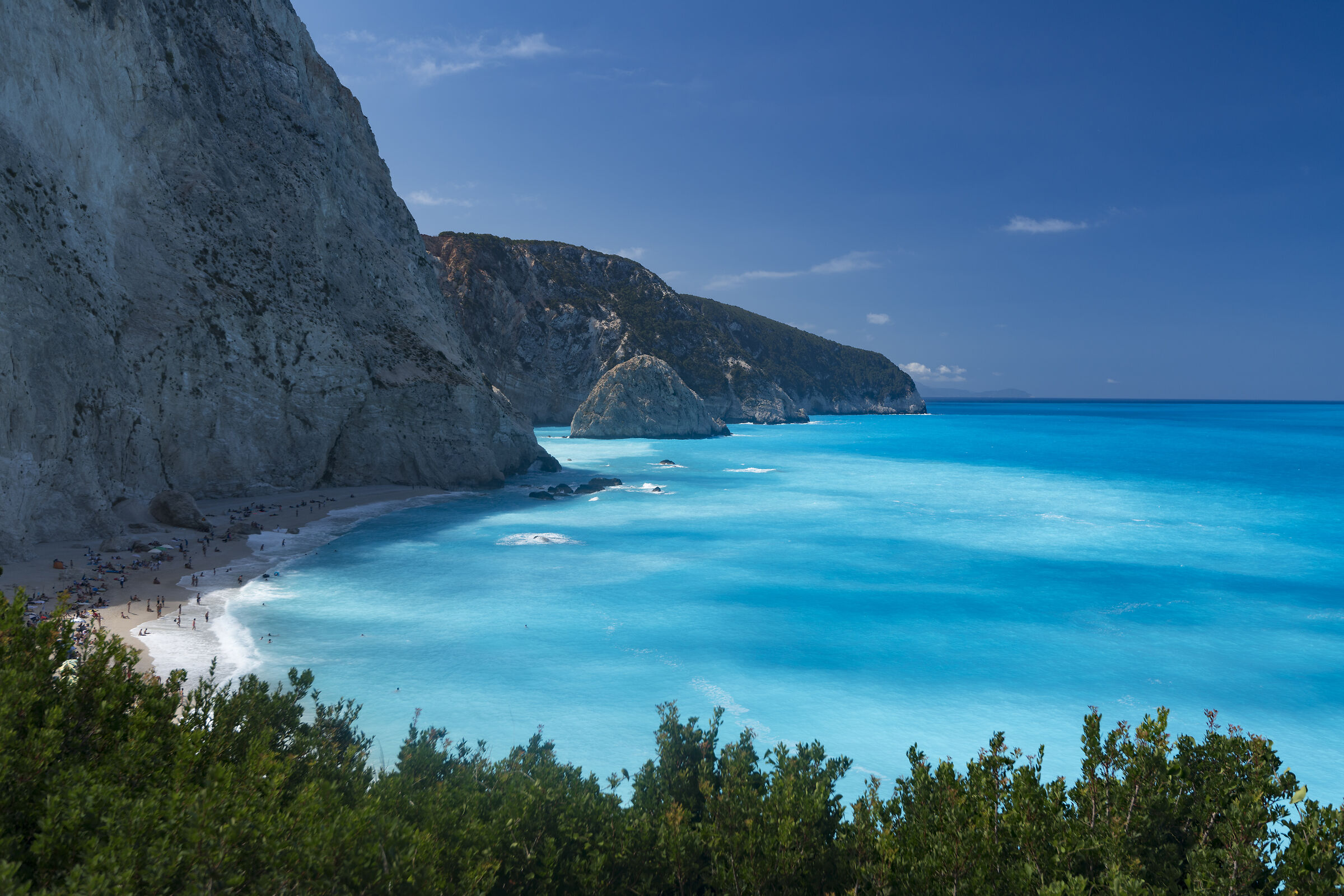 into the blue (Port Katsiki, Lefkada Greece)...