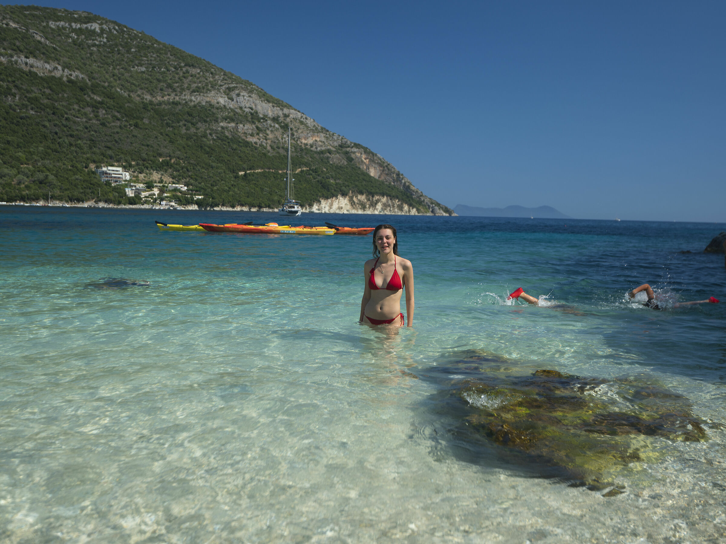 world is mine (my daughter Emma in Mikro Gialos, Greece...