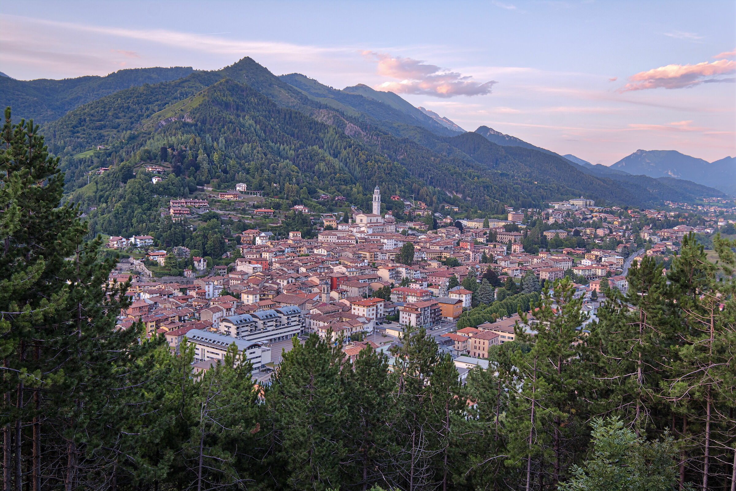 Clusone from above...