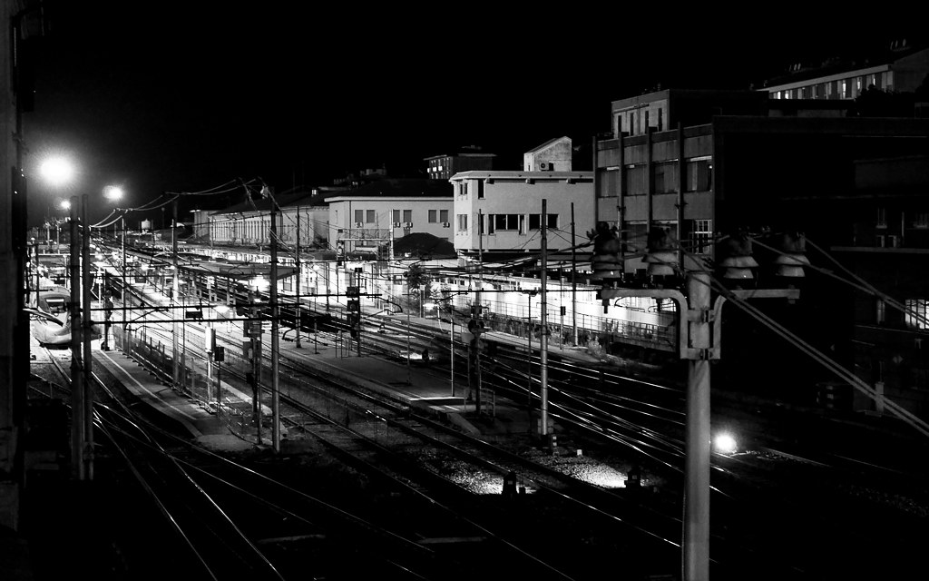 Night station...