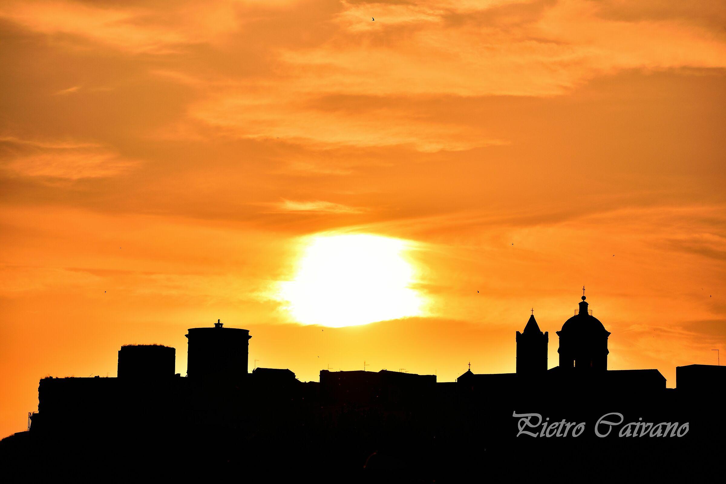 Basilicata, Pisticci, al tramonto...