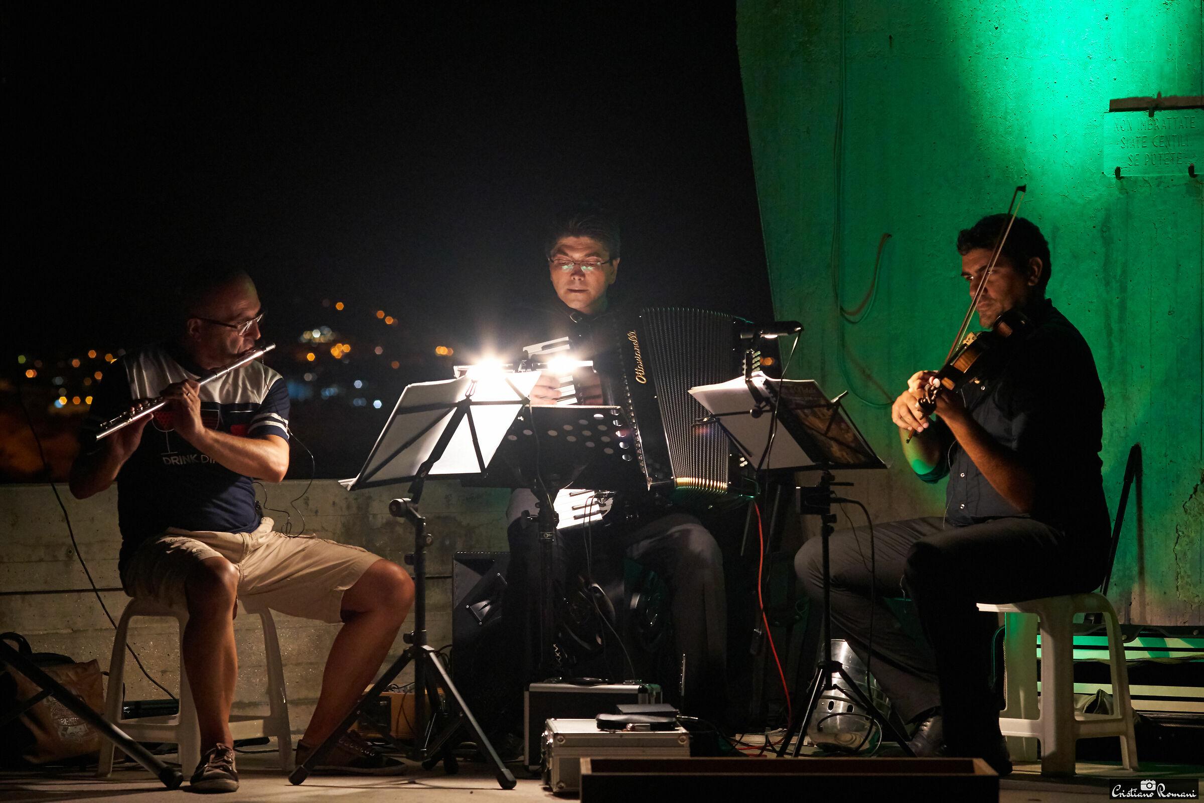 Street musicians...