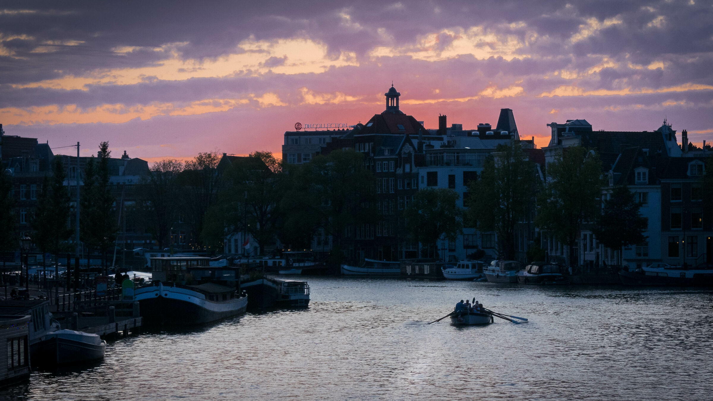 Sunset in Amsterdam...