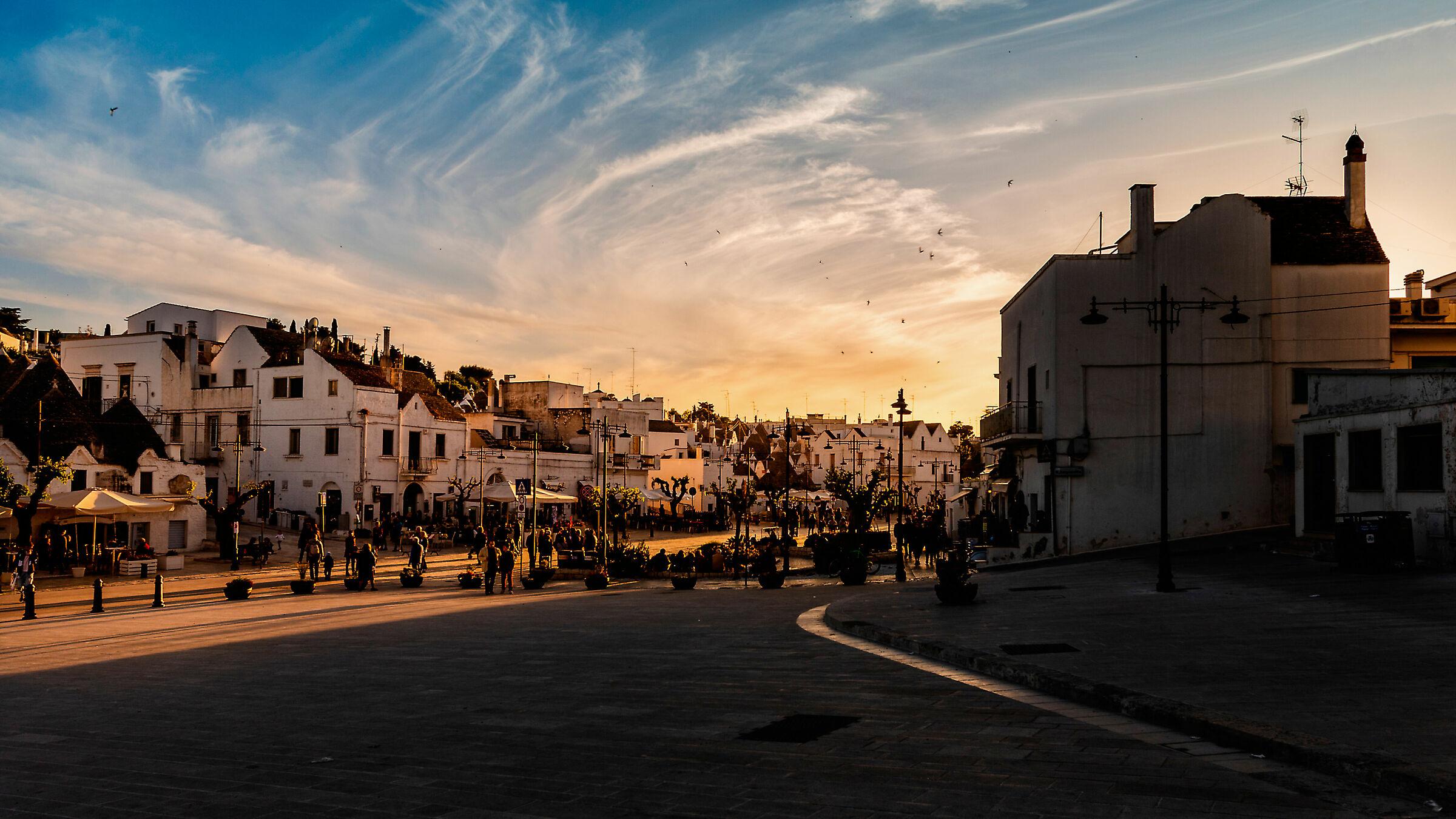 Sunset at Alberobello ...