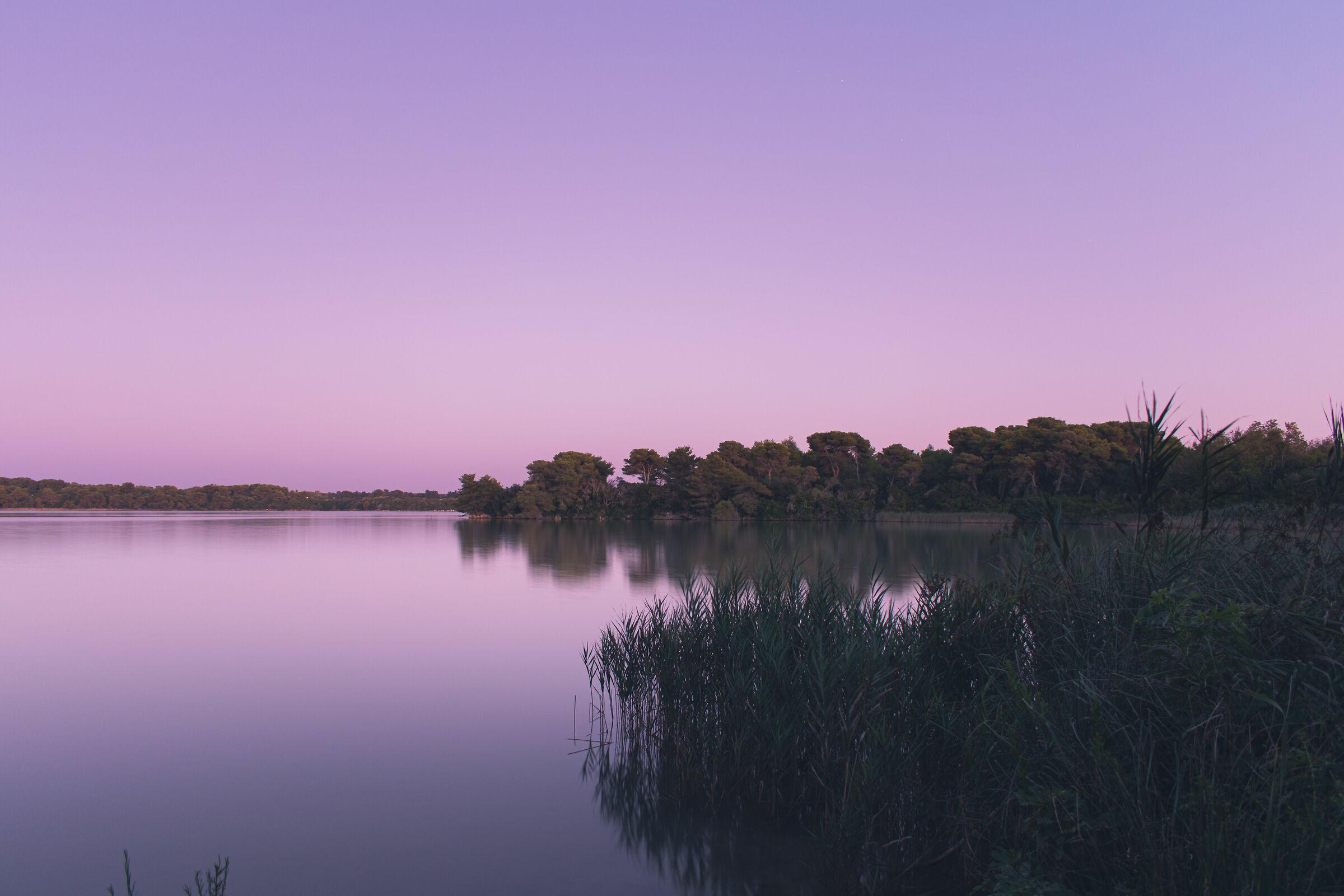 Alimini lakes in a purple sunset...