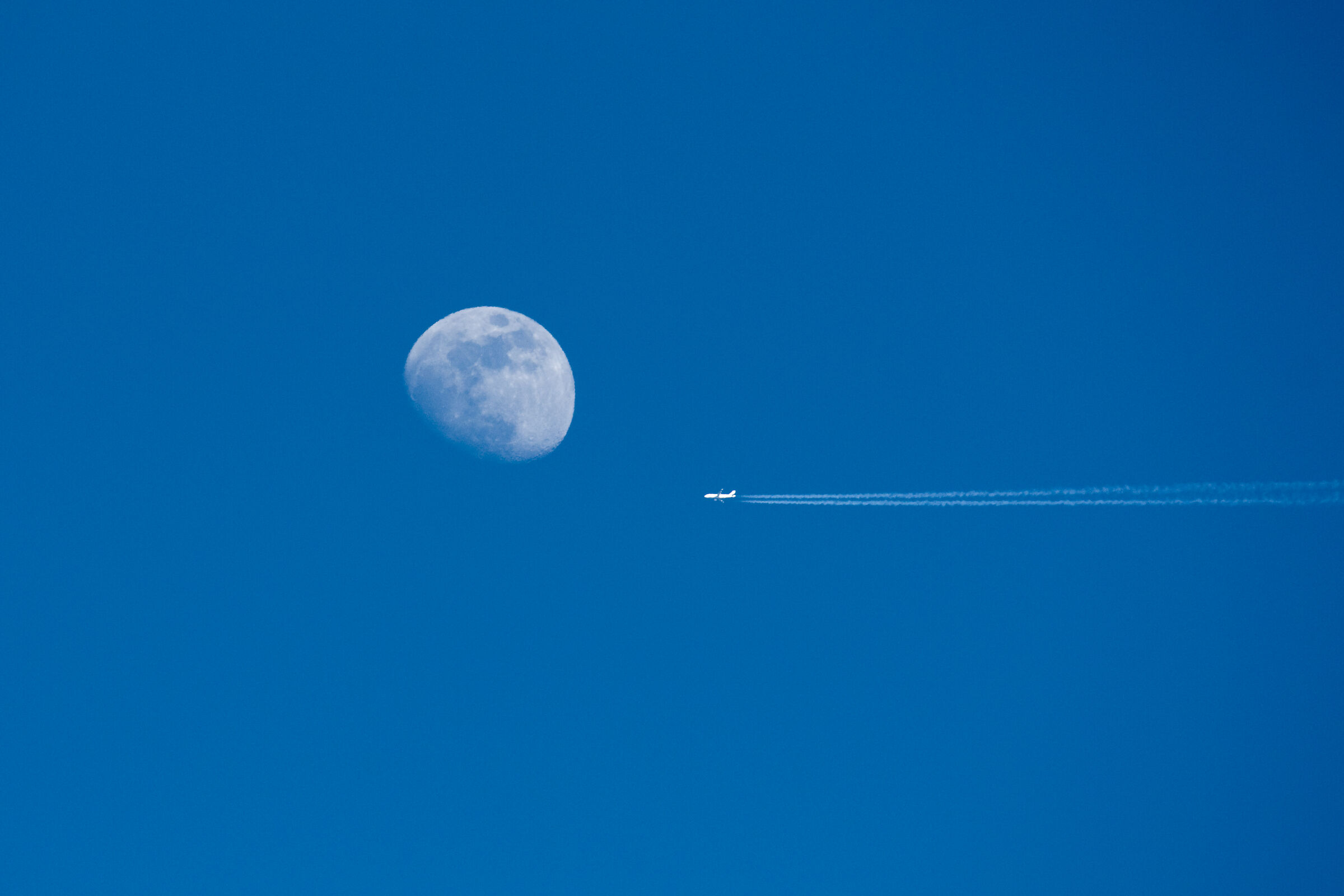 flying to the moon......