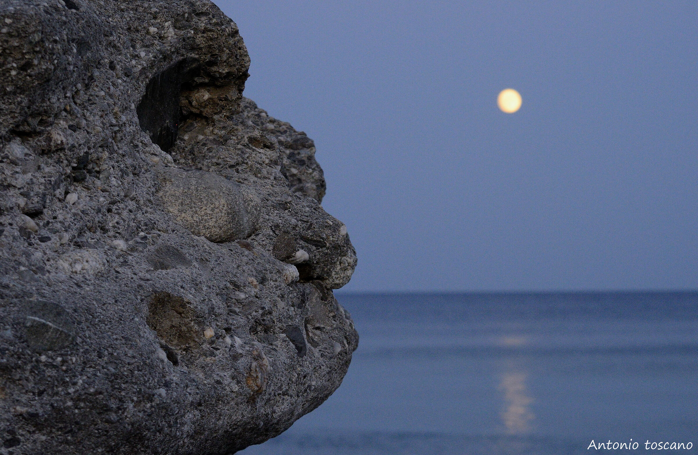 Stone face...