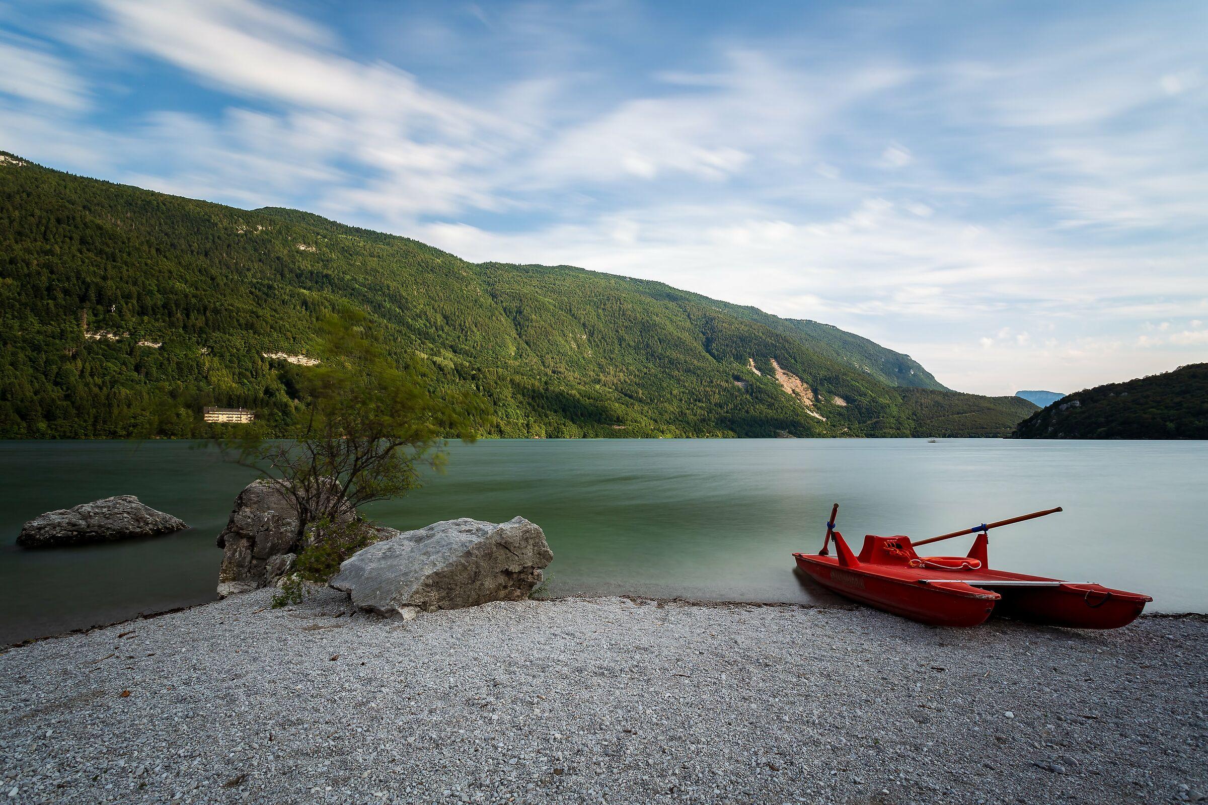 At Lake Molveno...
