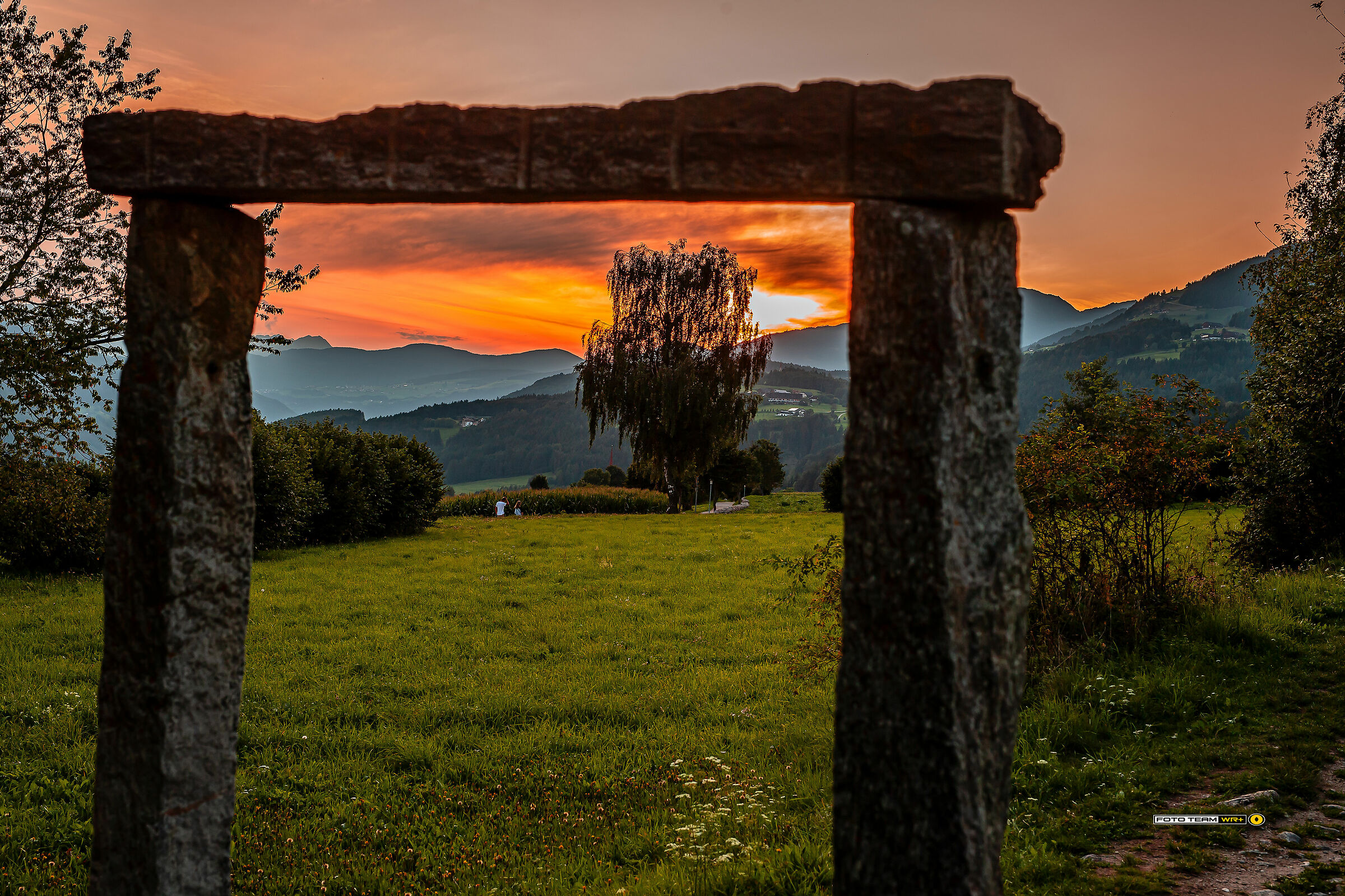 Sunset at Falzes (South Tyrol)...