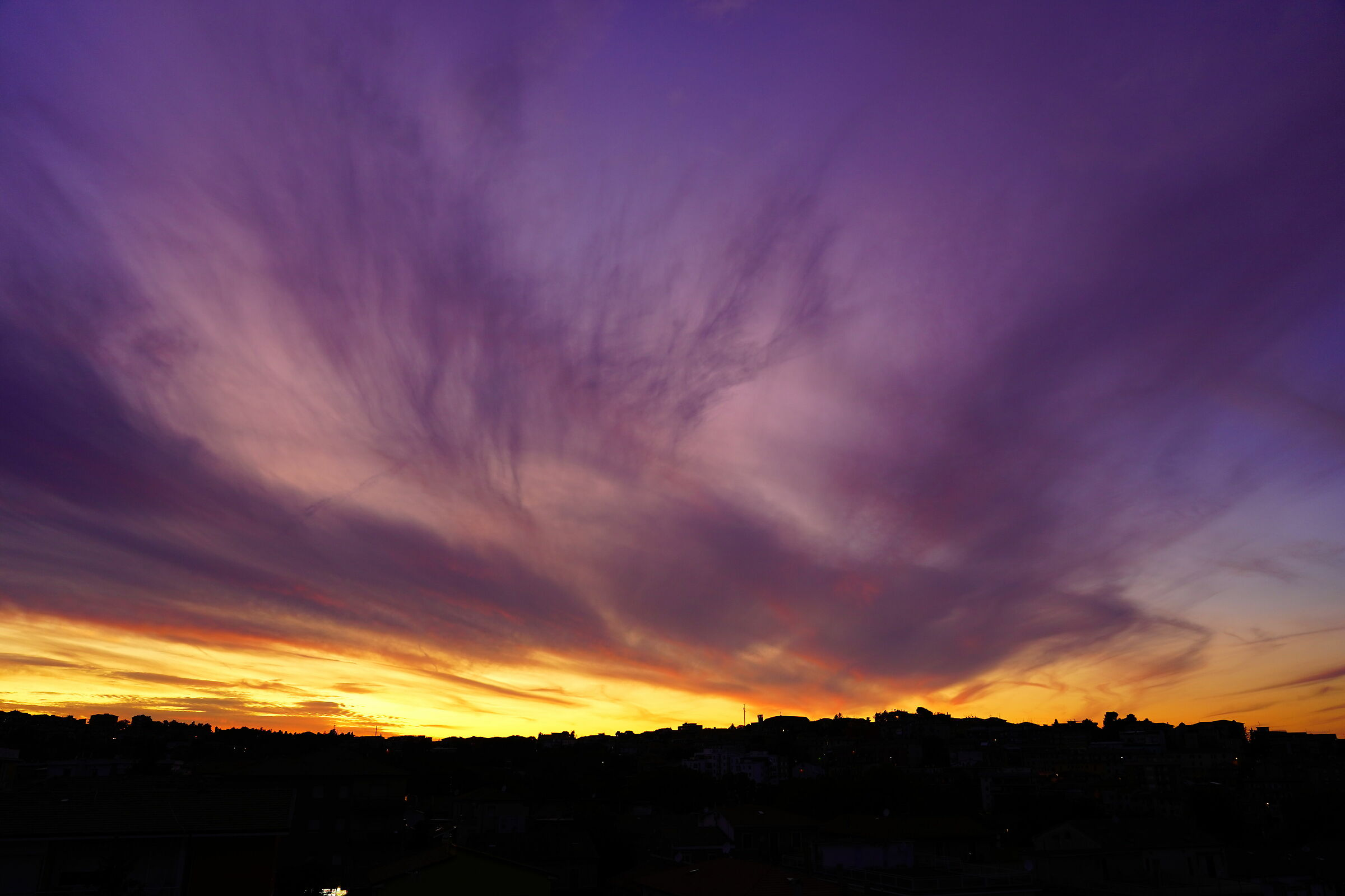 Purple sunset...