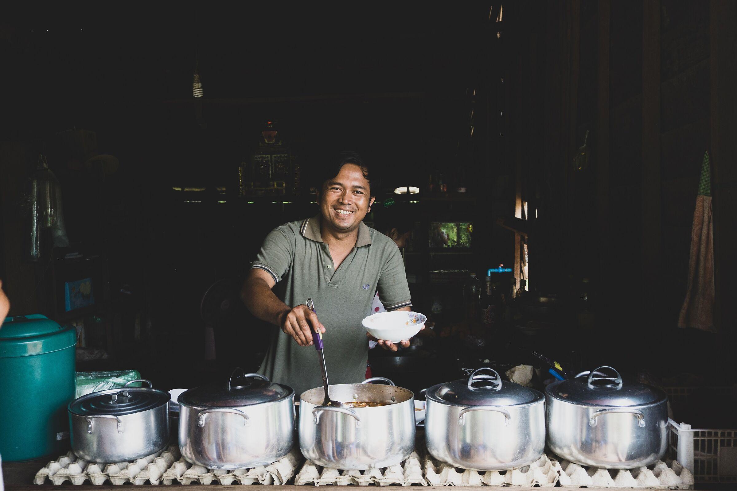 Pranzo cambogiano...