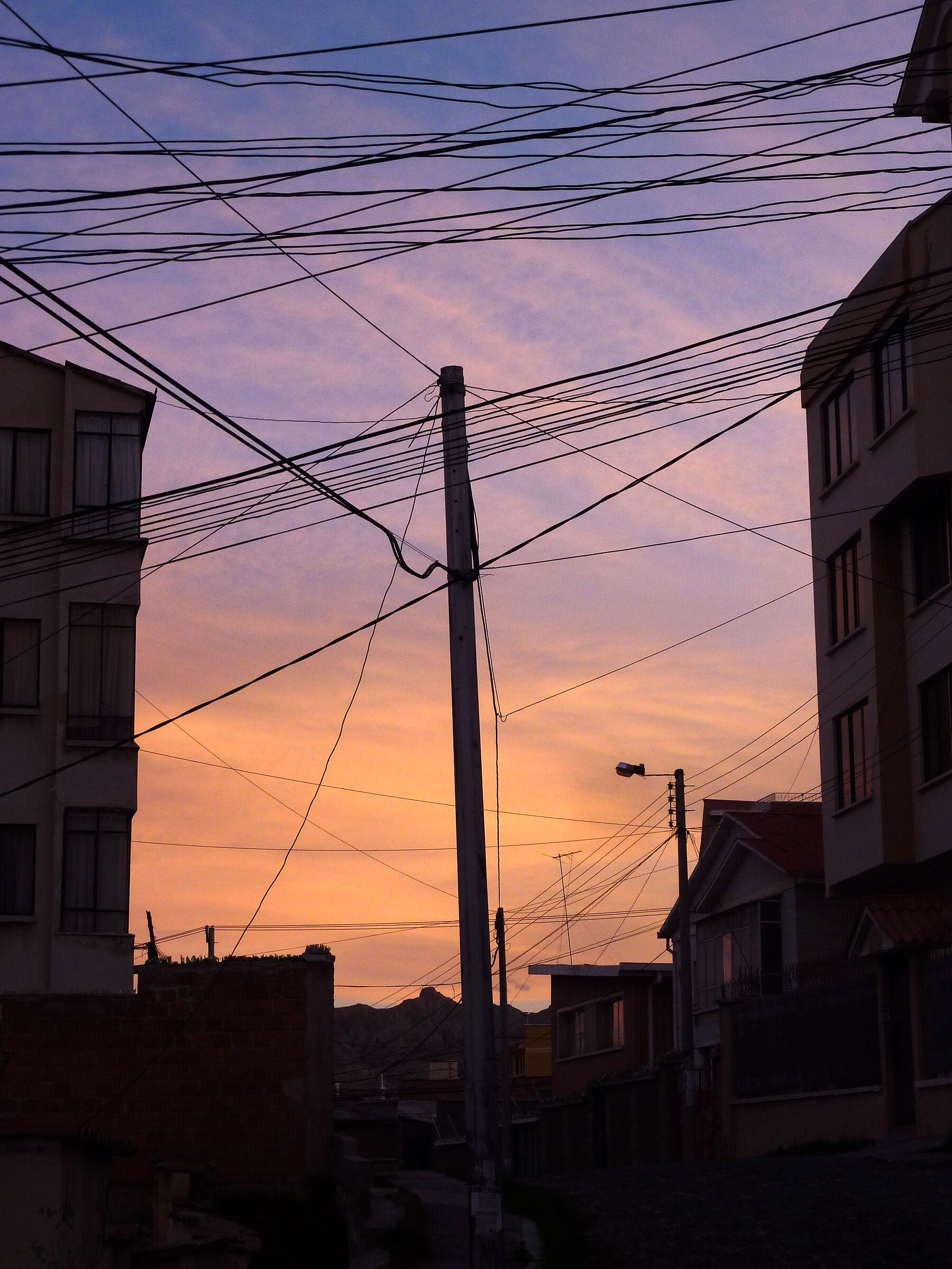 Tramonto urbano a La Paz...
