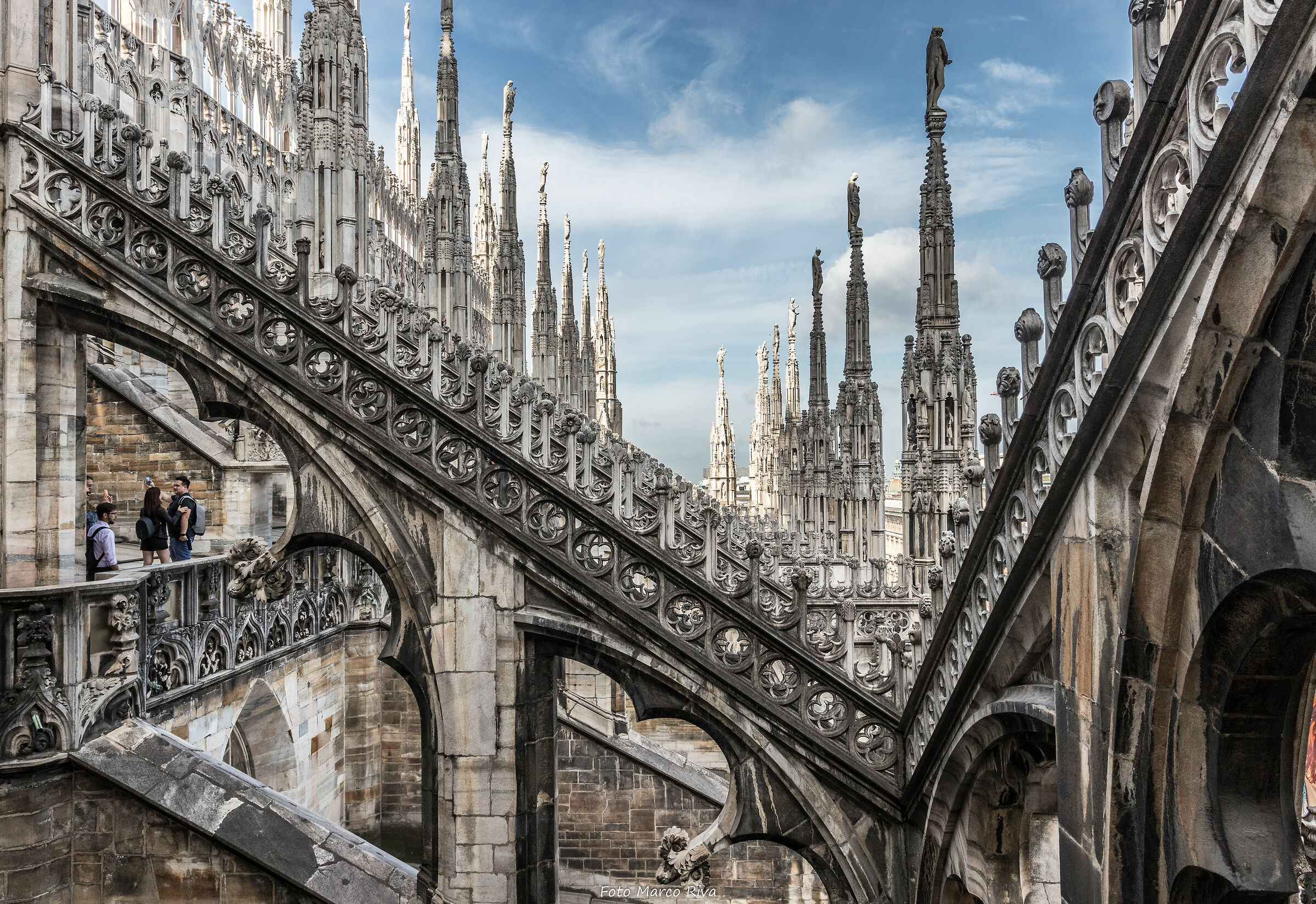 The Spires of the Cathedral of Milan...