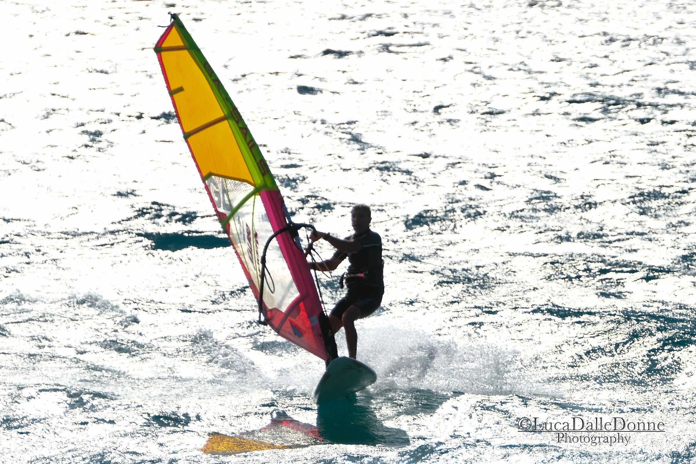 Windsurfing in Geremeas...