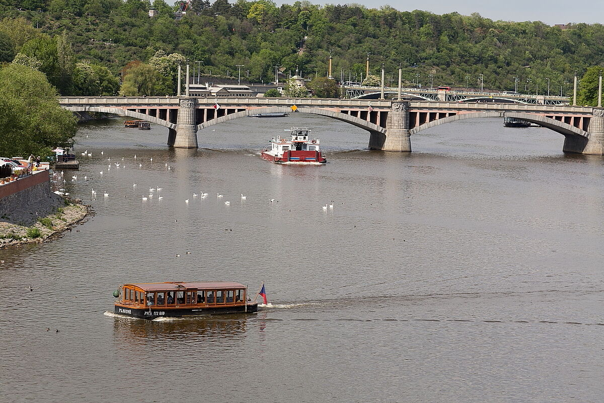 Little traffic in Vltava...