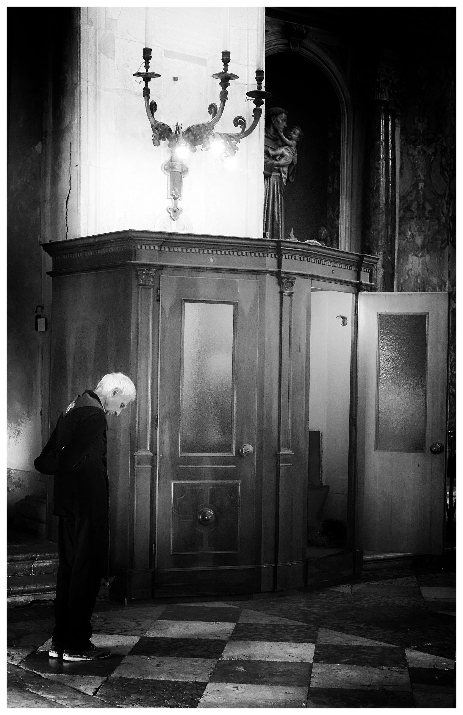 the confessional...