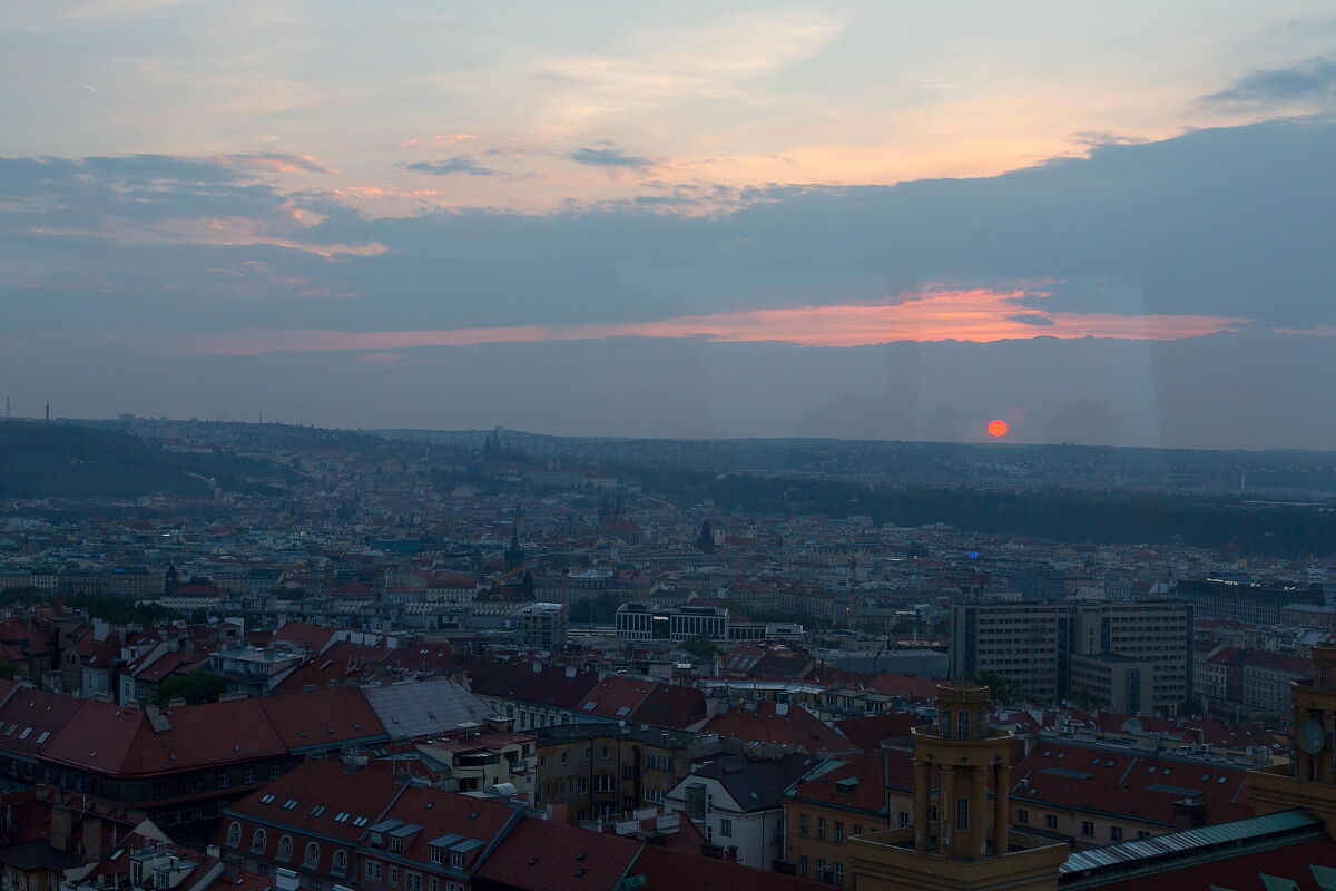View from Prague's old TV tower...