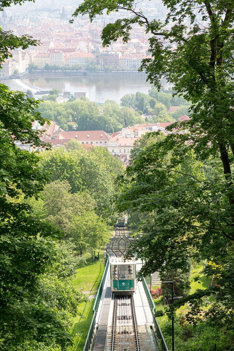 Funicular to Petrin Hill...