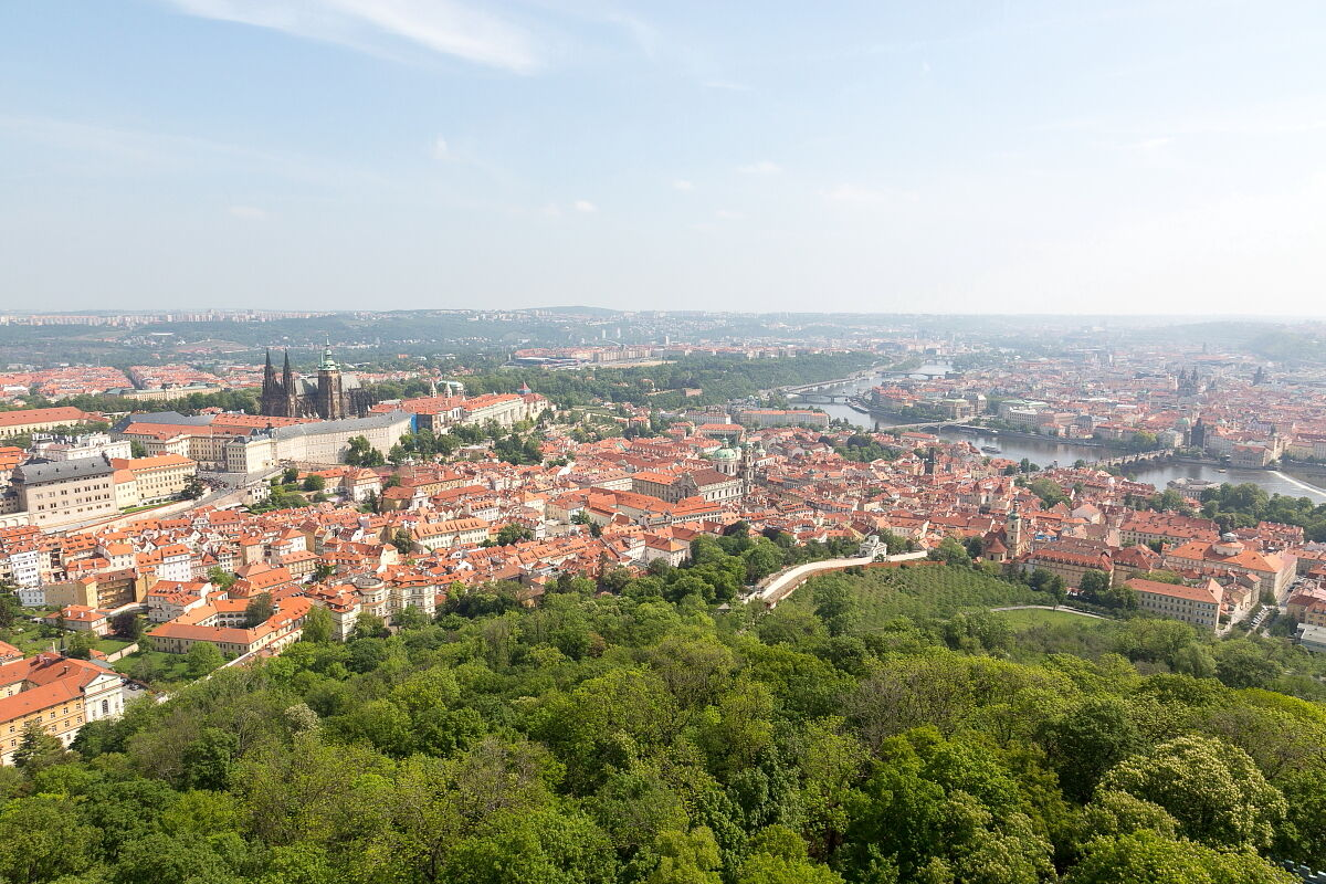 A view from Petrin tower...