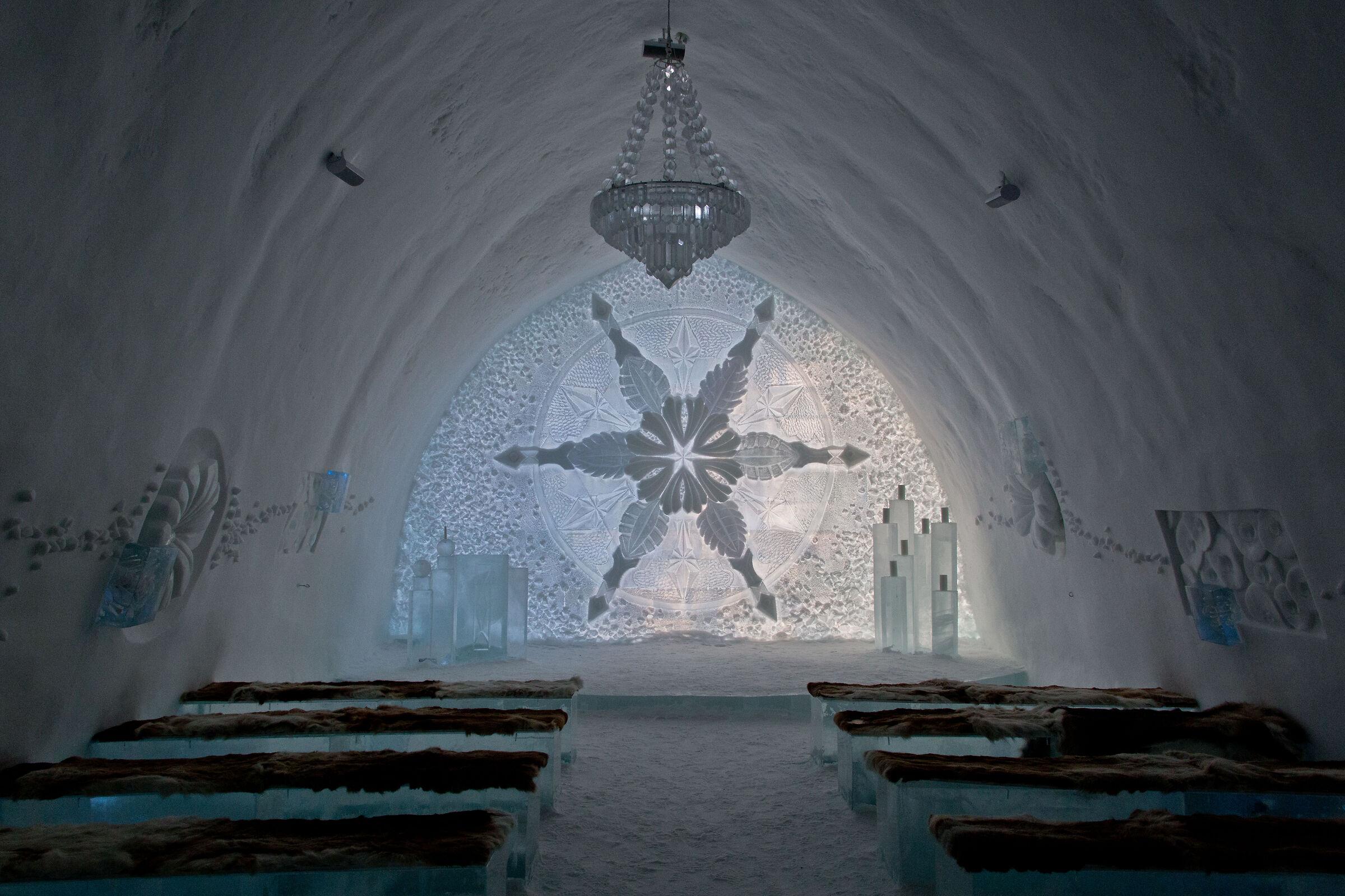 ice hotel lobby...