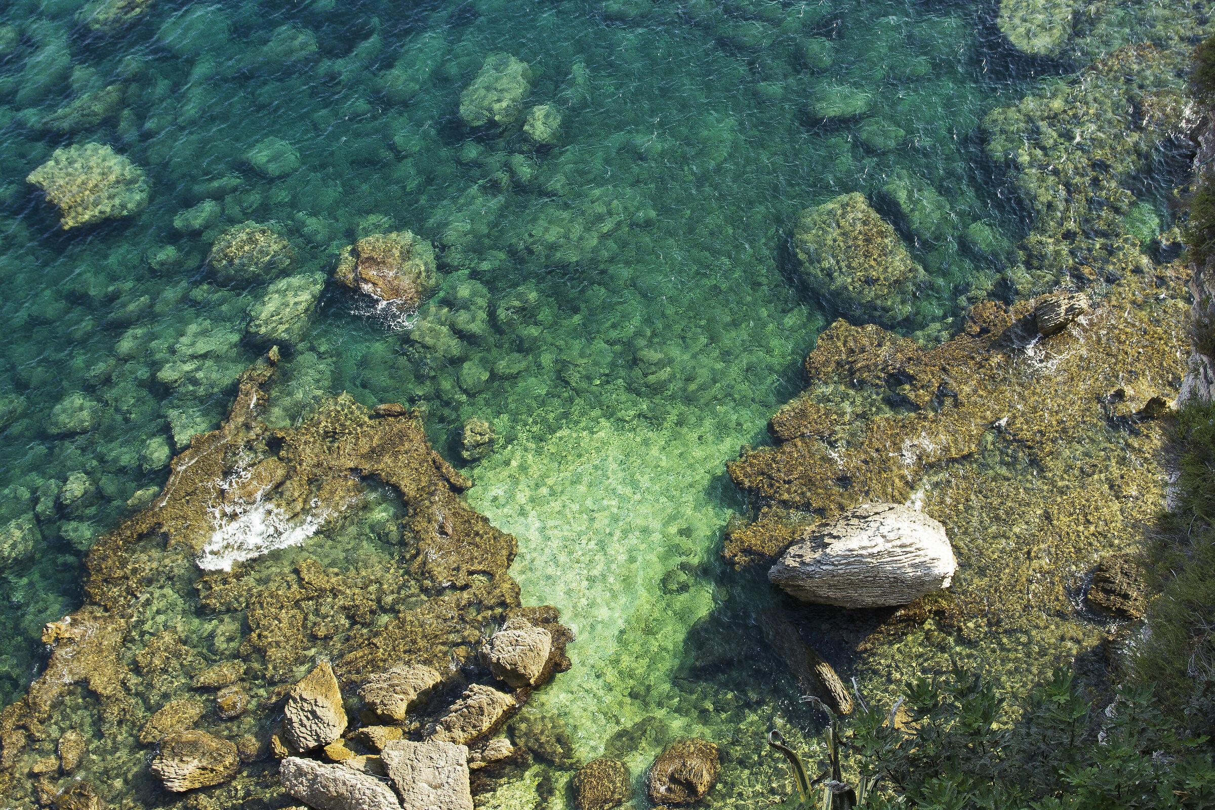 sea and rocks in Corsica...