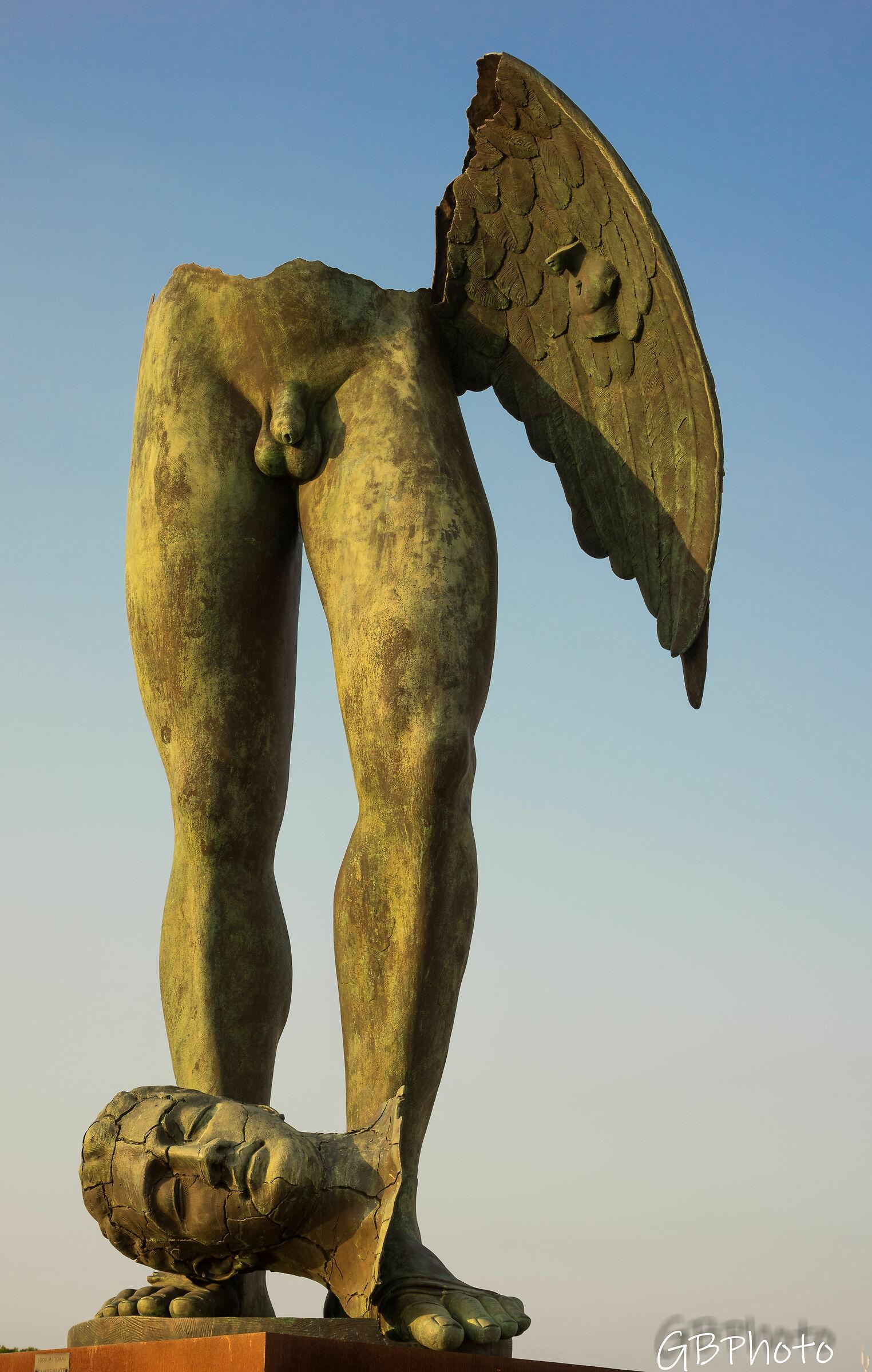 Mitoraj's winged legs...