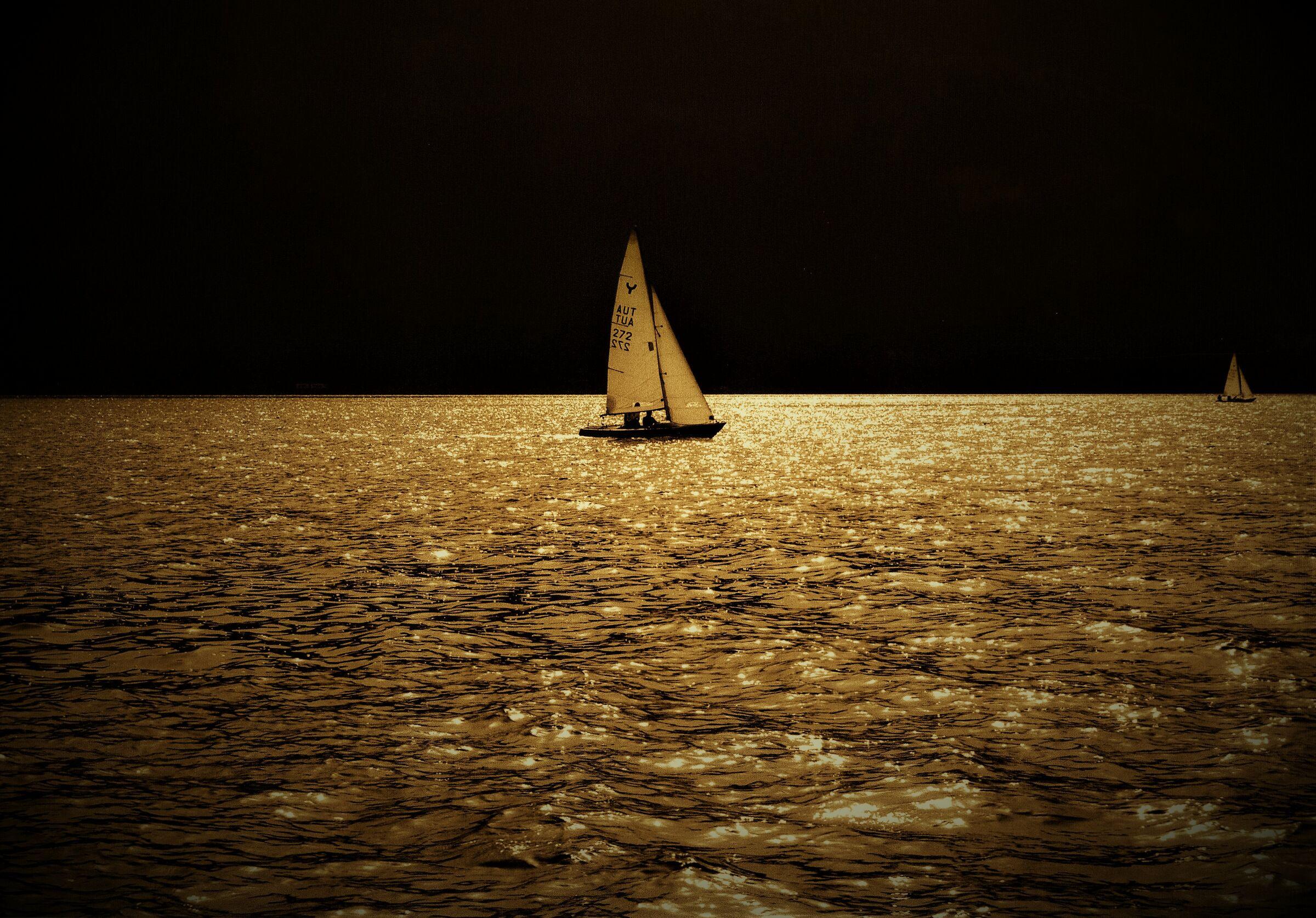 Minimalist photography. Moonlight...