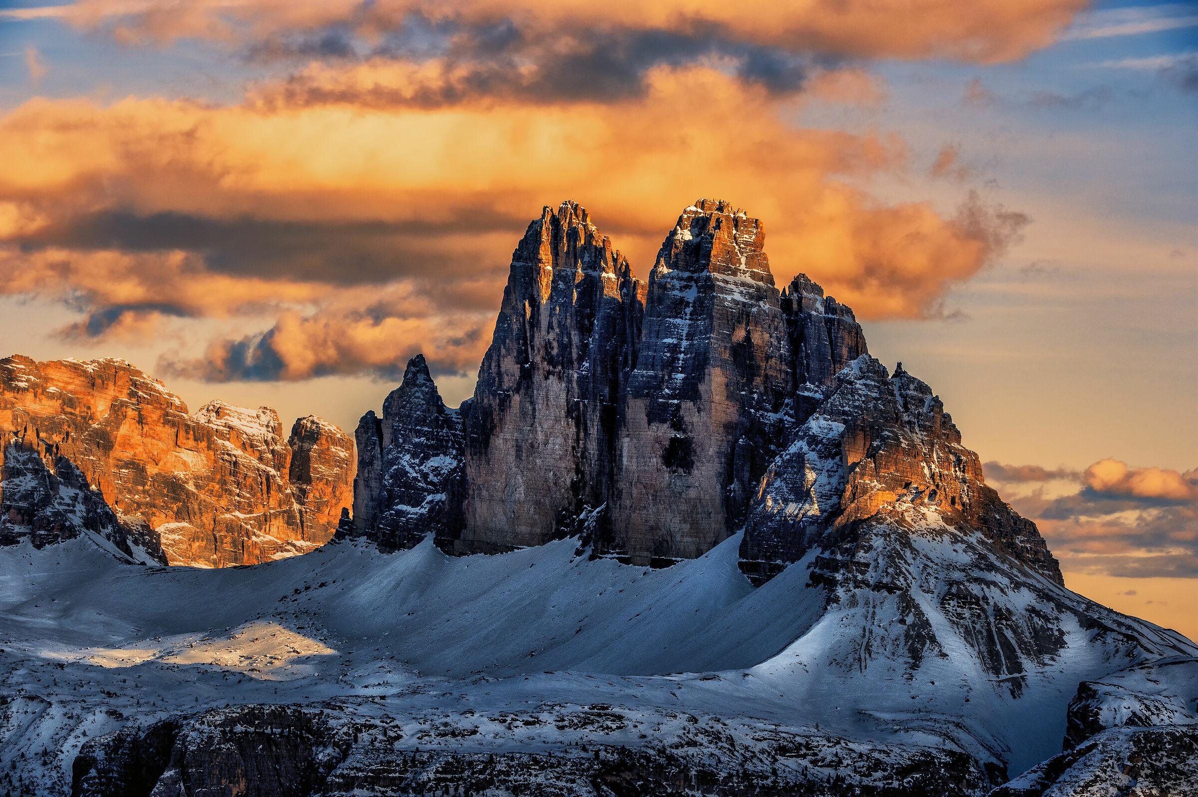 A window of light at the Three Peaks of Lavaredo...