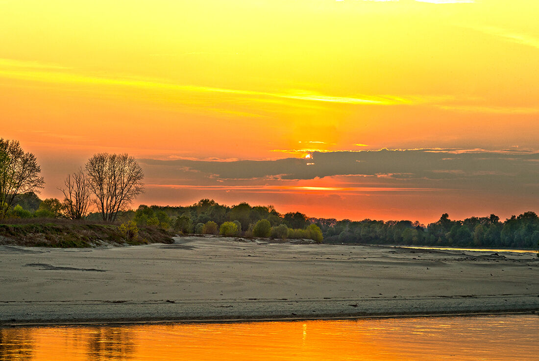 Sunset over the river...
