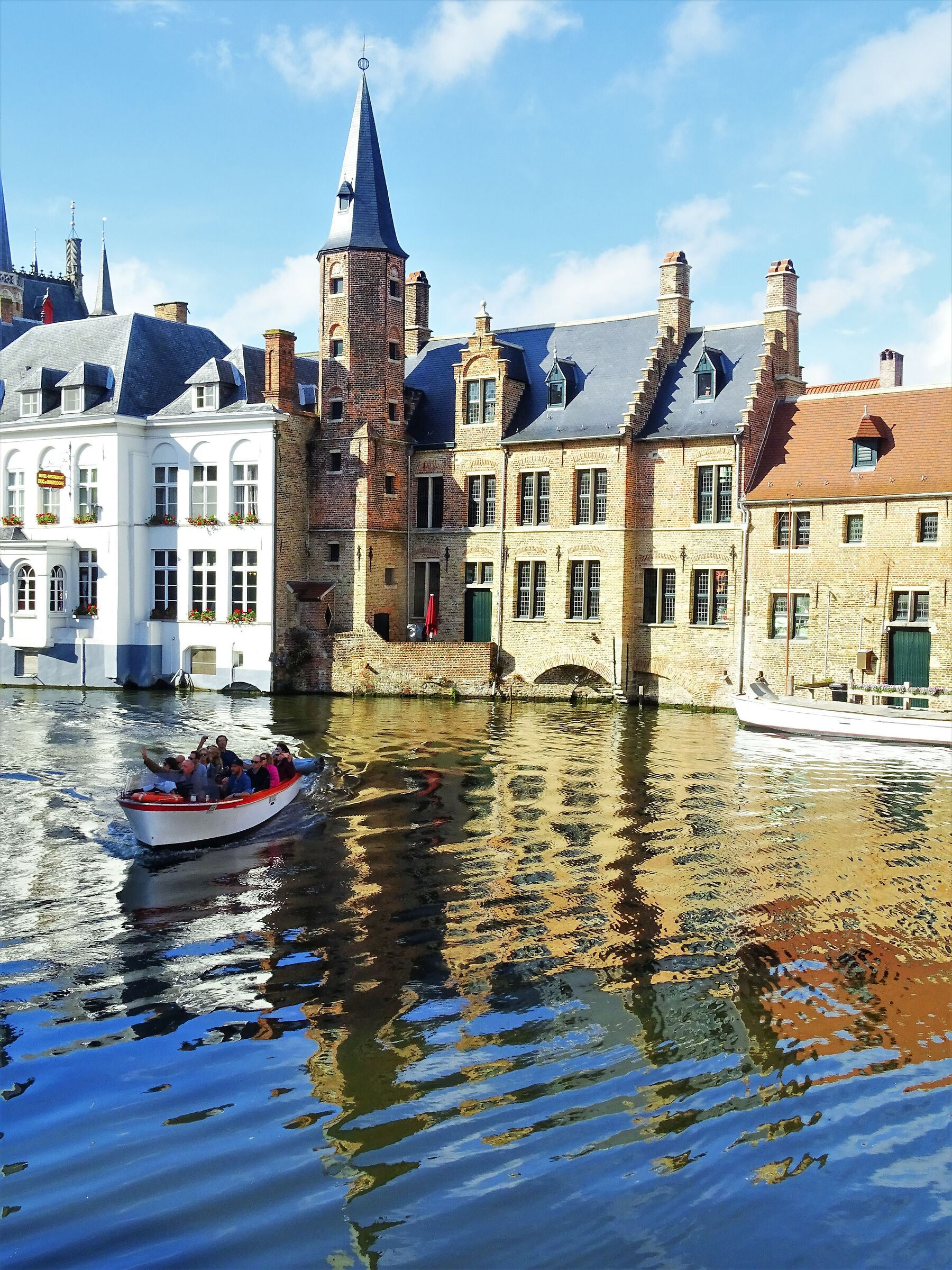 Bruges is mirrored in the waters...