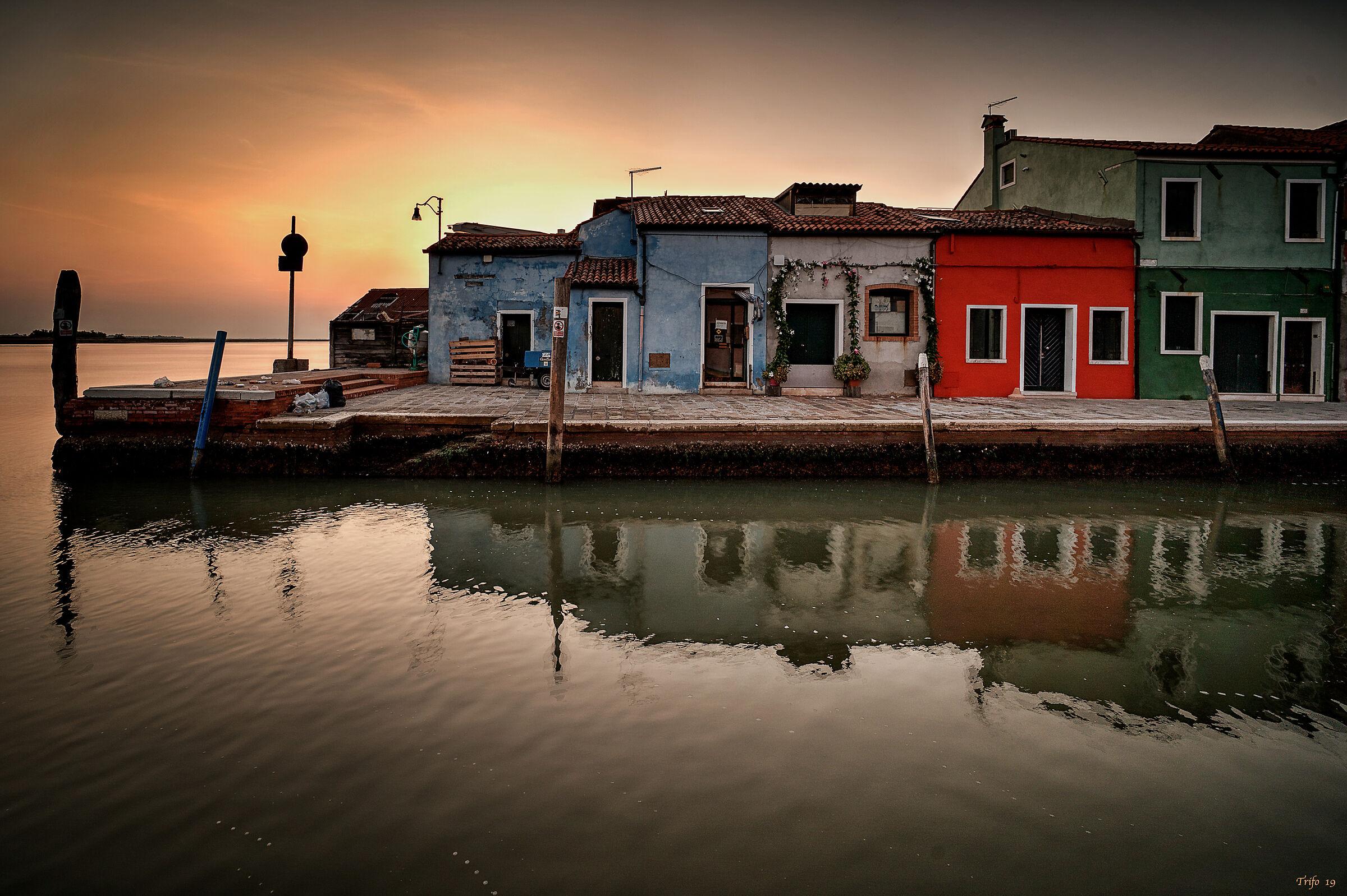 Burano... at dawn...