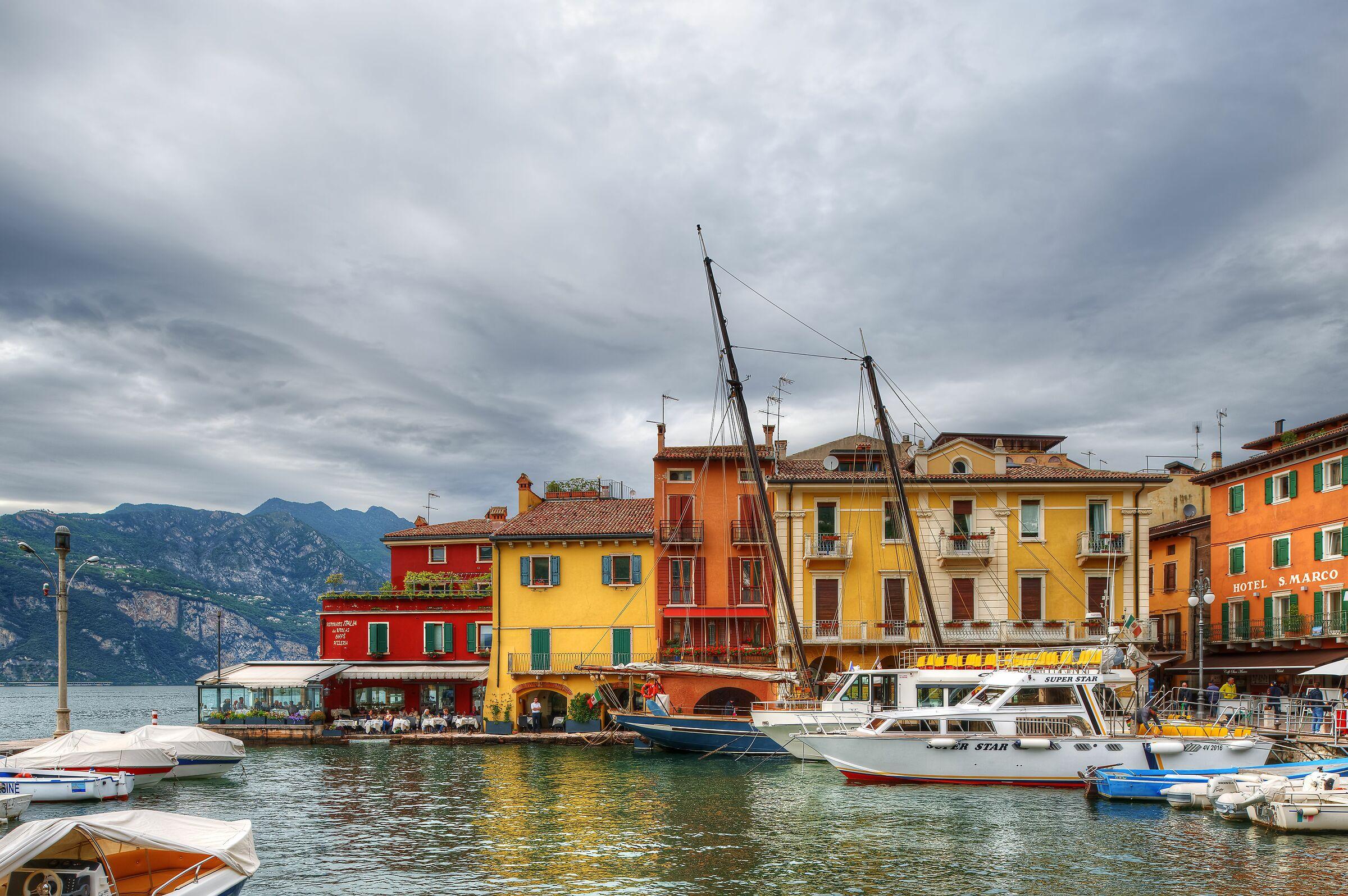 Malcesine Harbor, Italy...