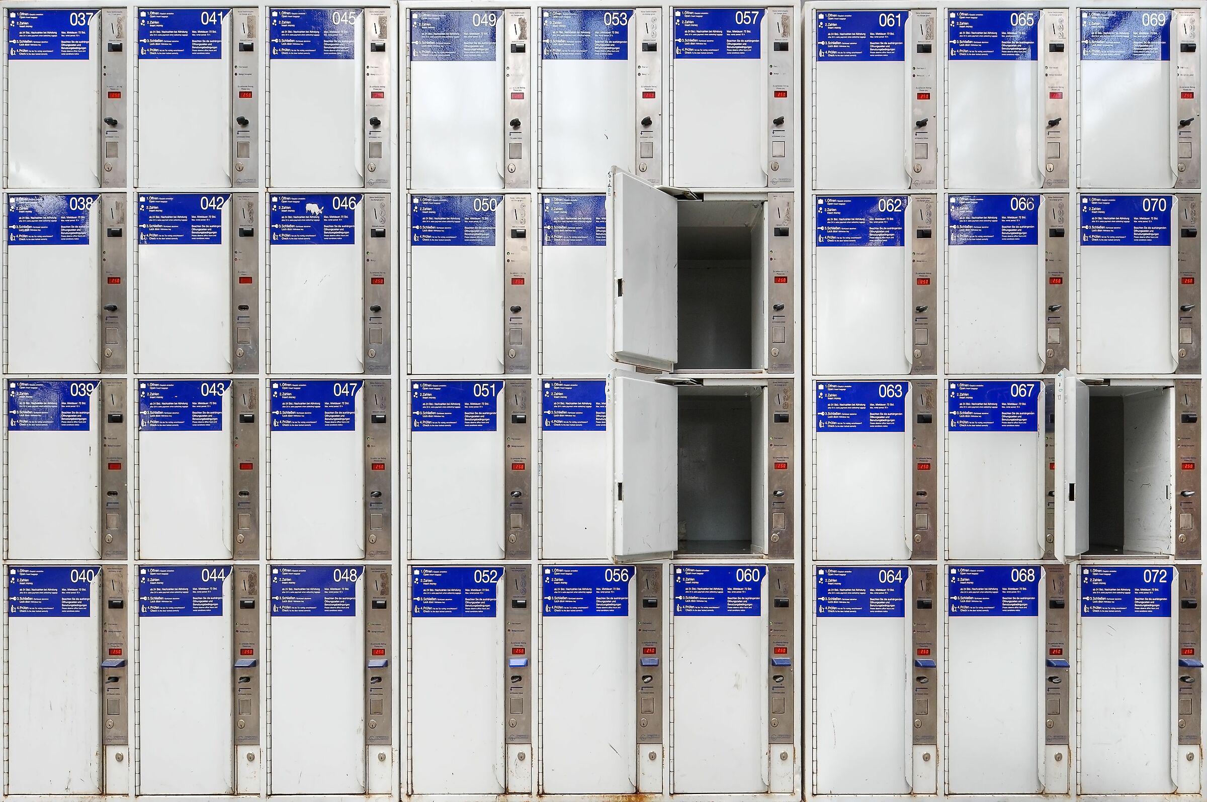 Lockers, Wiesbaden, Germany...