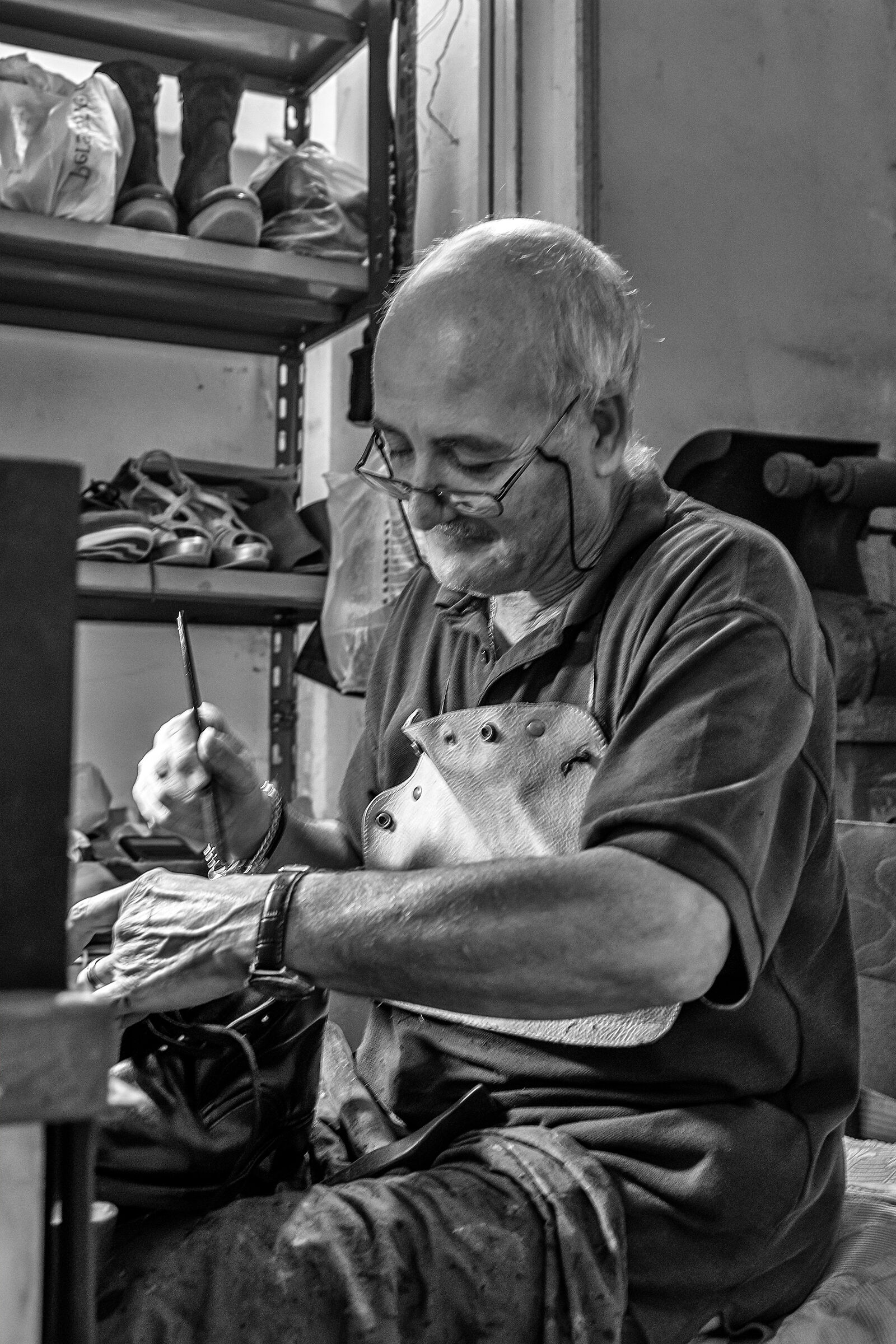 In the shoemaker's shop...
