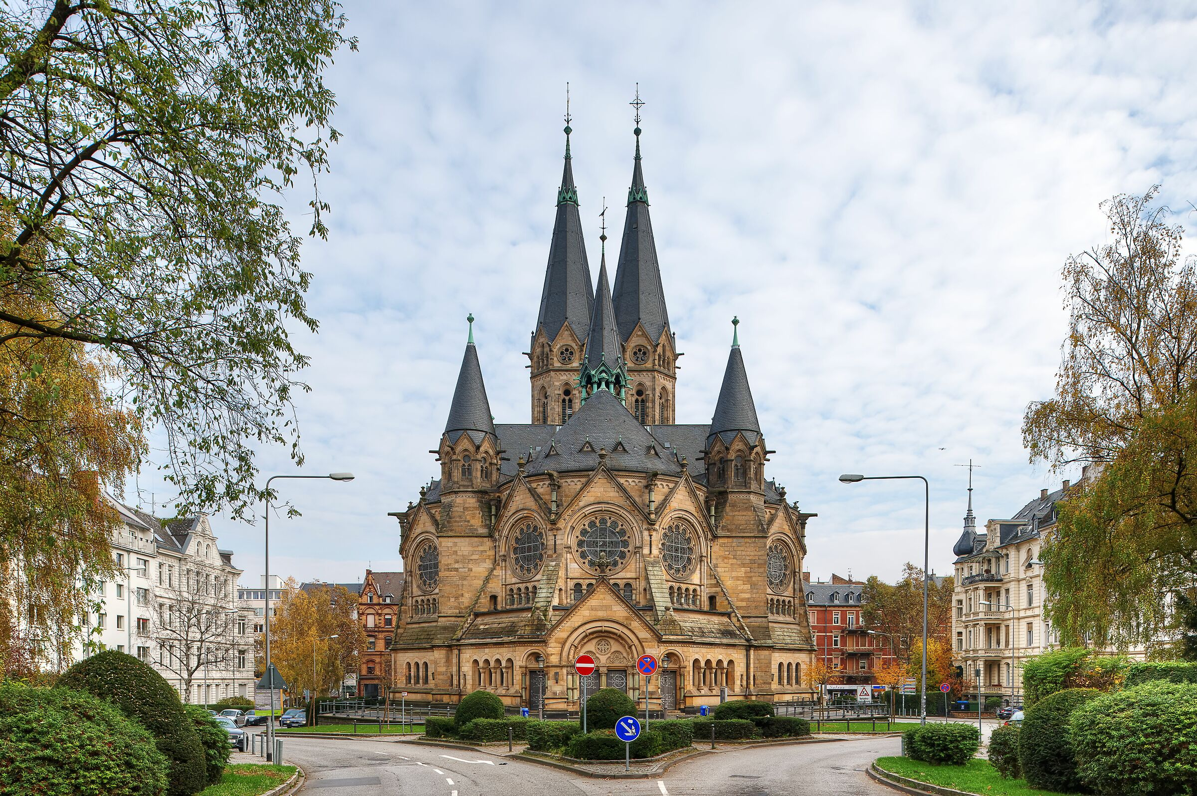 Protestant Church, Wiesbaden, Germany...