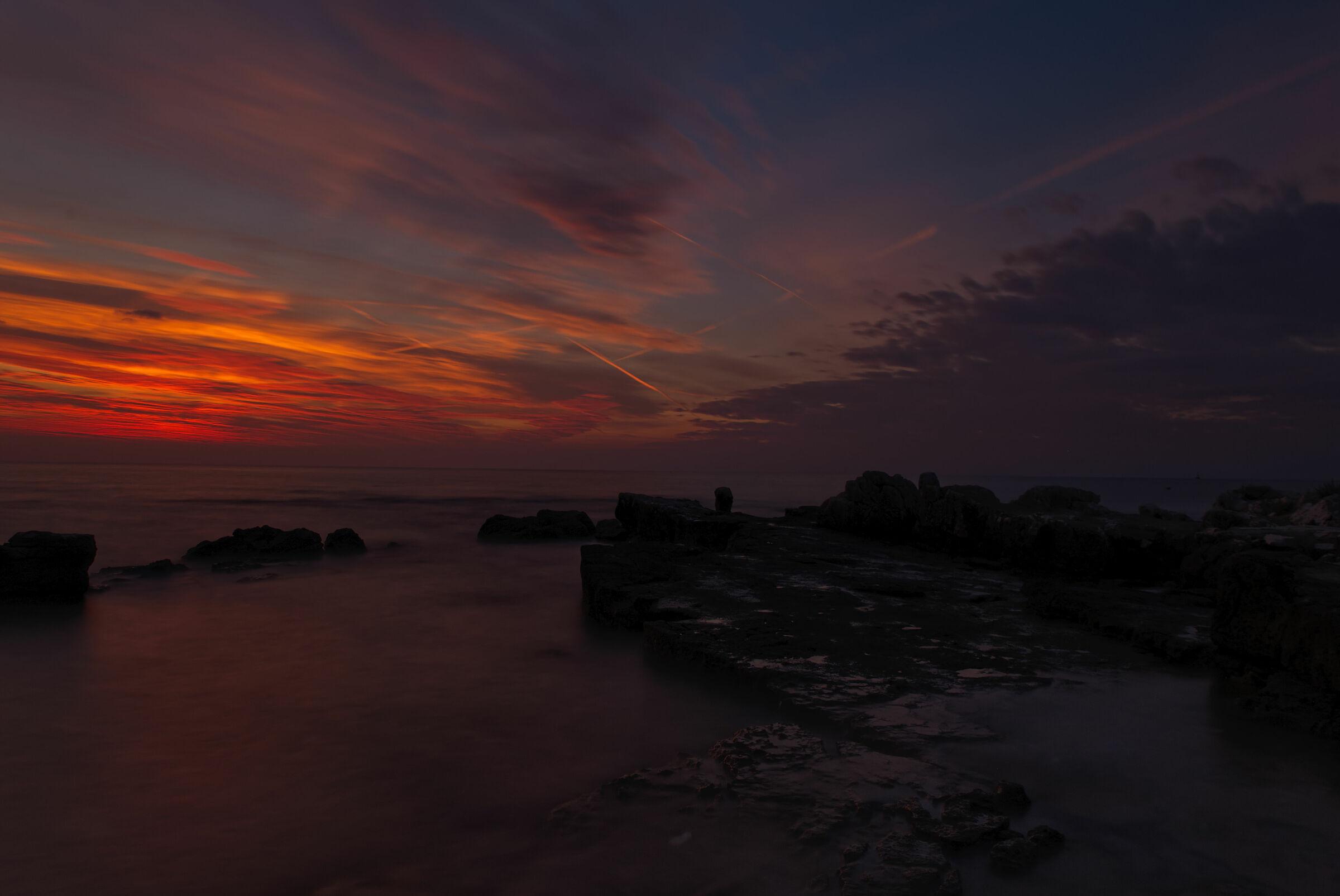 Slow sunset in Croatia...