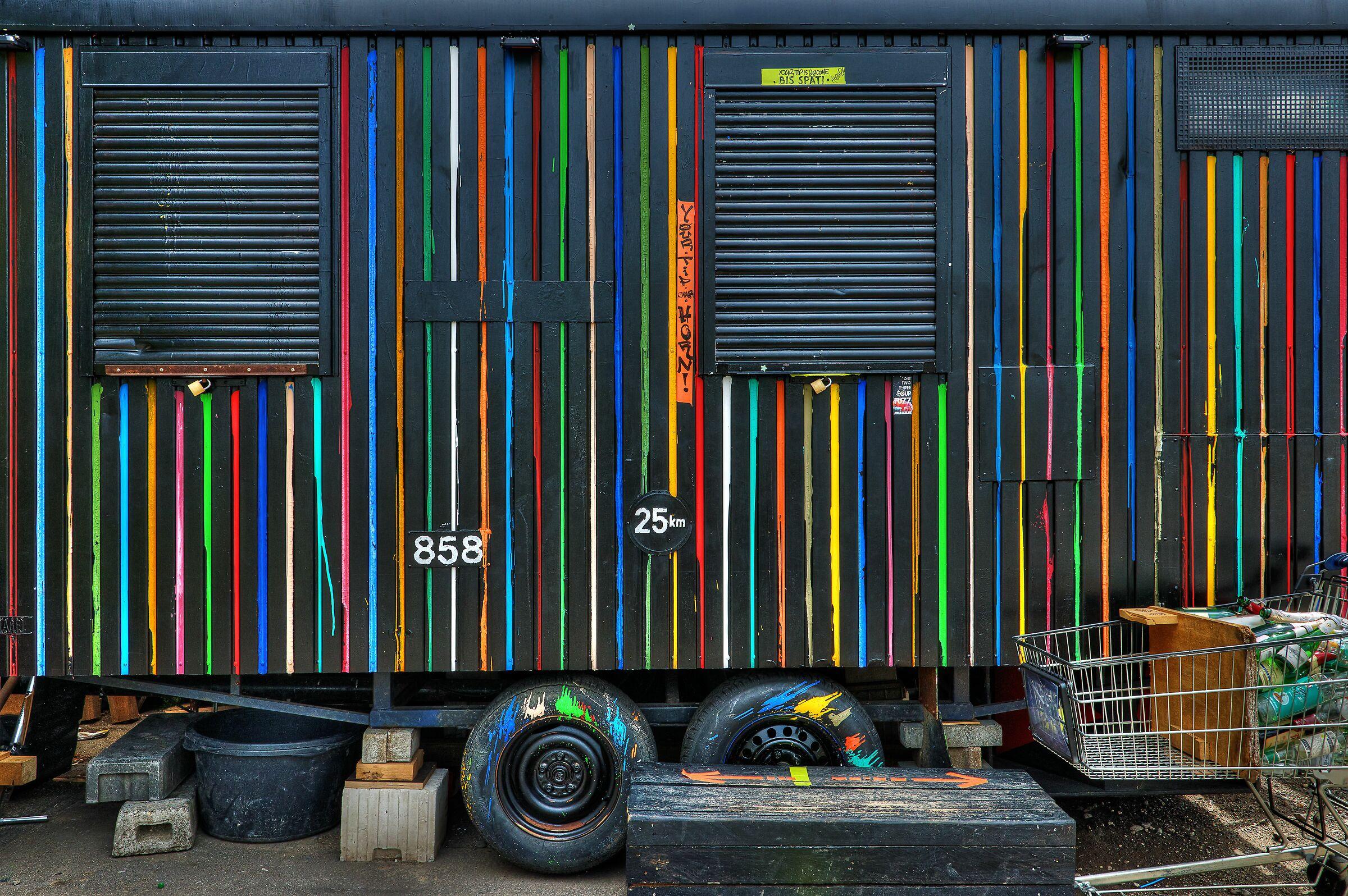 Black Construction Trailer, Wiesbaden, Germany...
