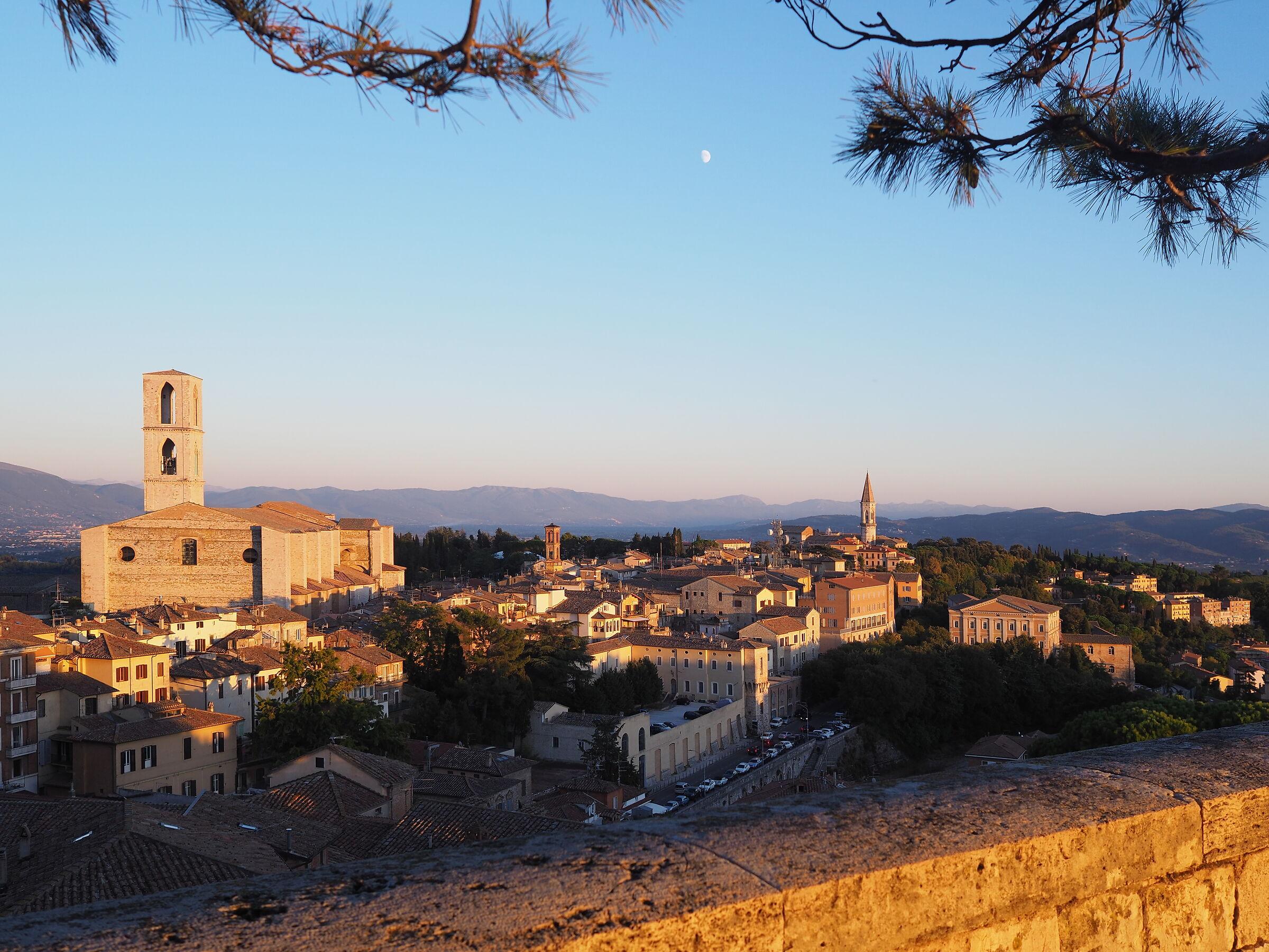 Panorama Perugia al tramonto...