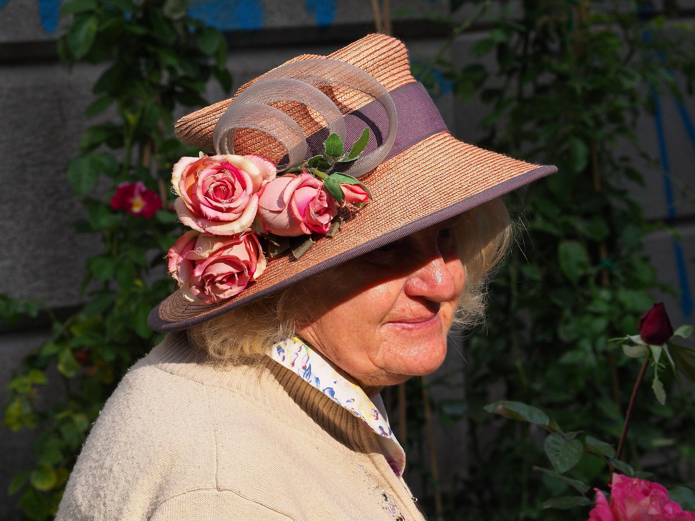 Elderly rose seller...